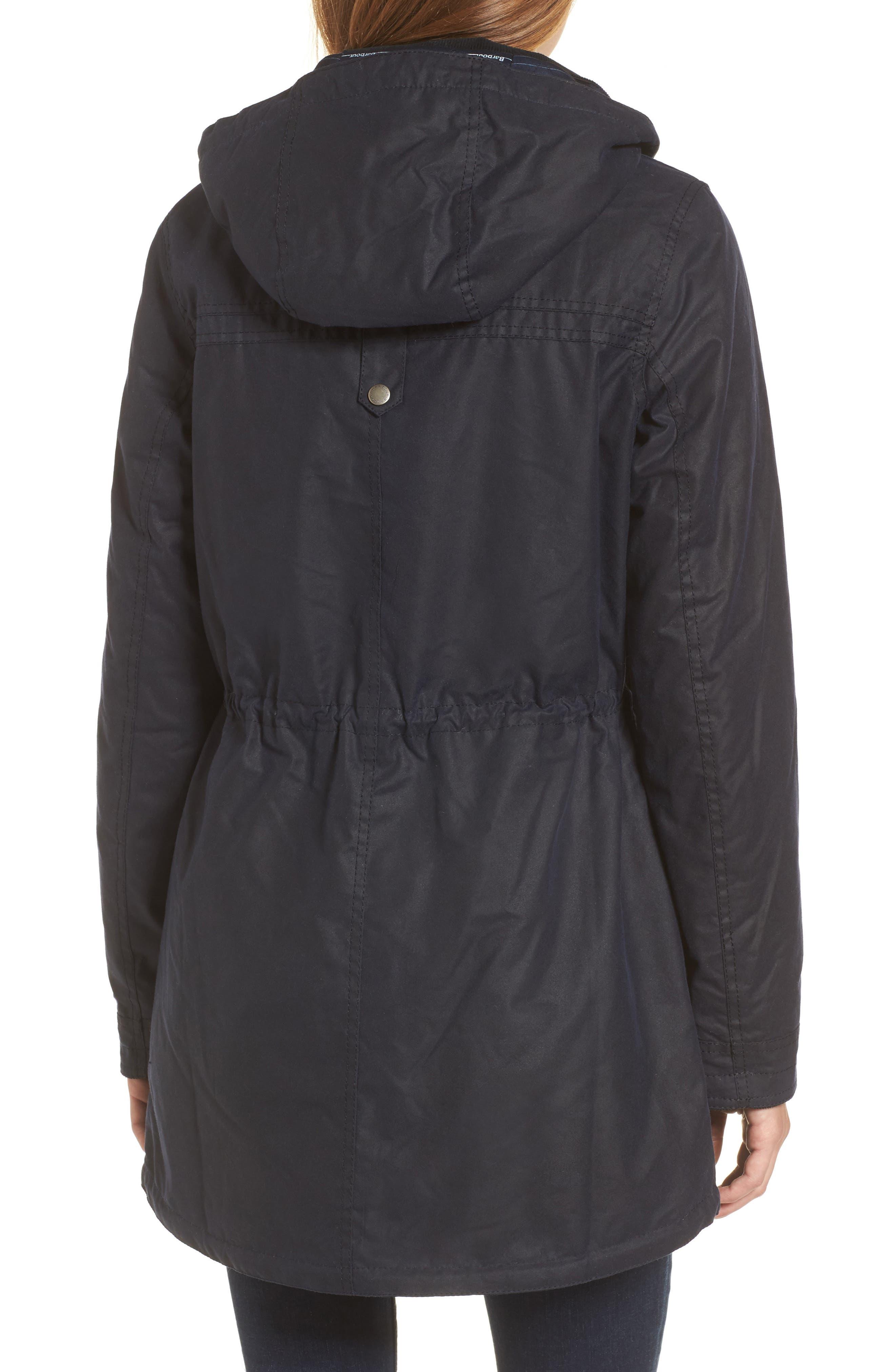 Selsey Waxed Canvas Hooded Jacket,                             Alternate thumbnail 2, color,                             Royal Navy