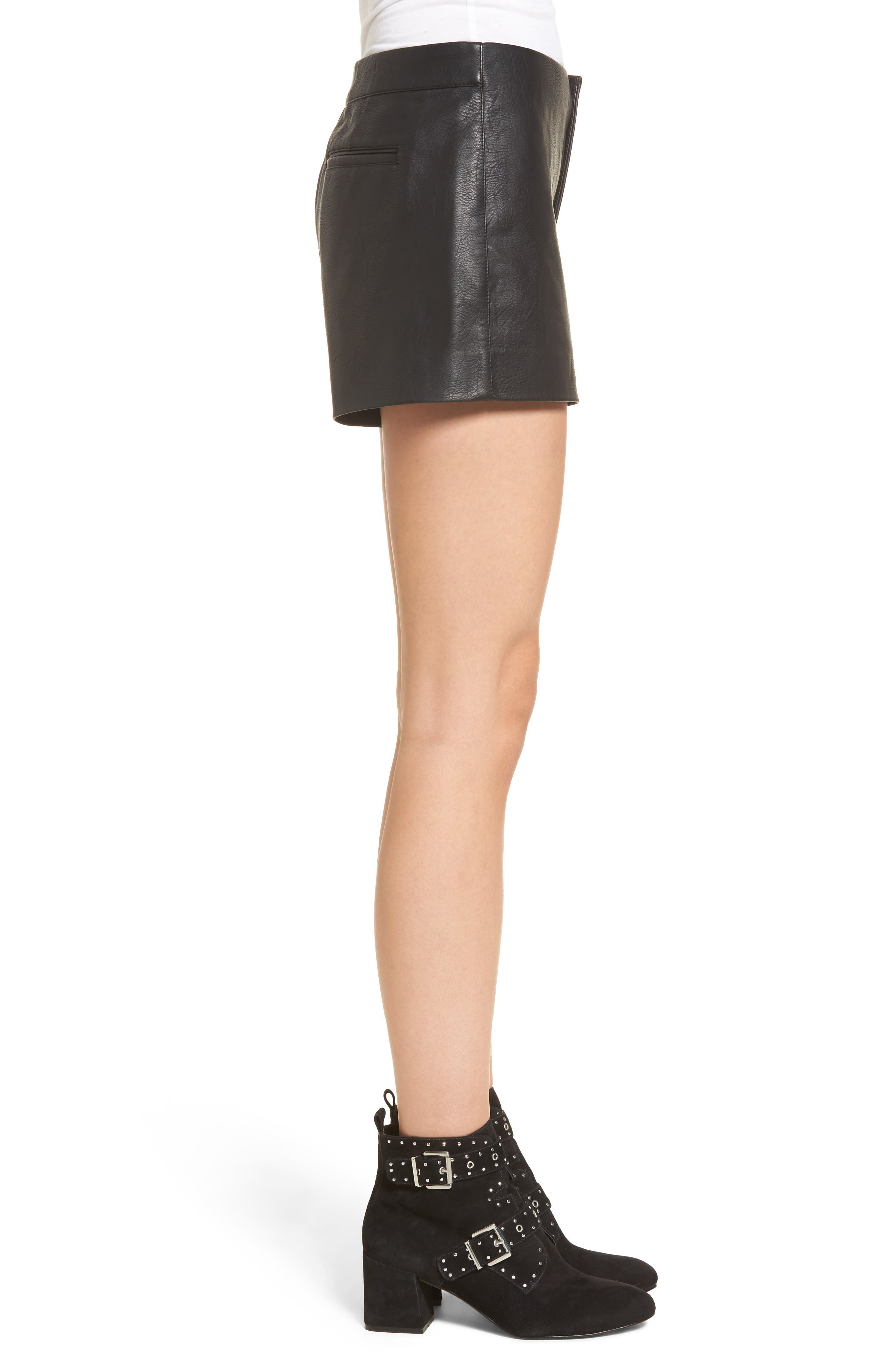 Alternate Image 3  - BLANKNYC Faux Leather Shorts