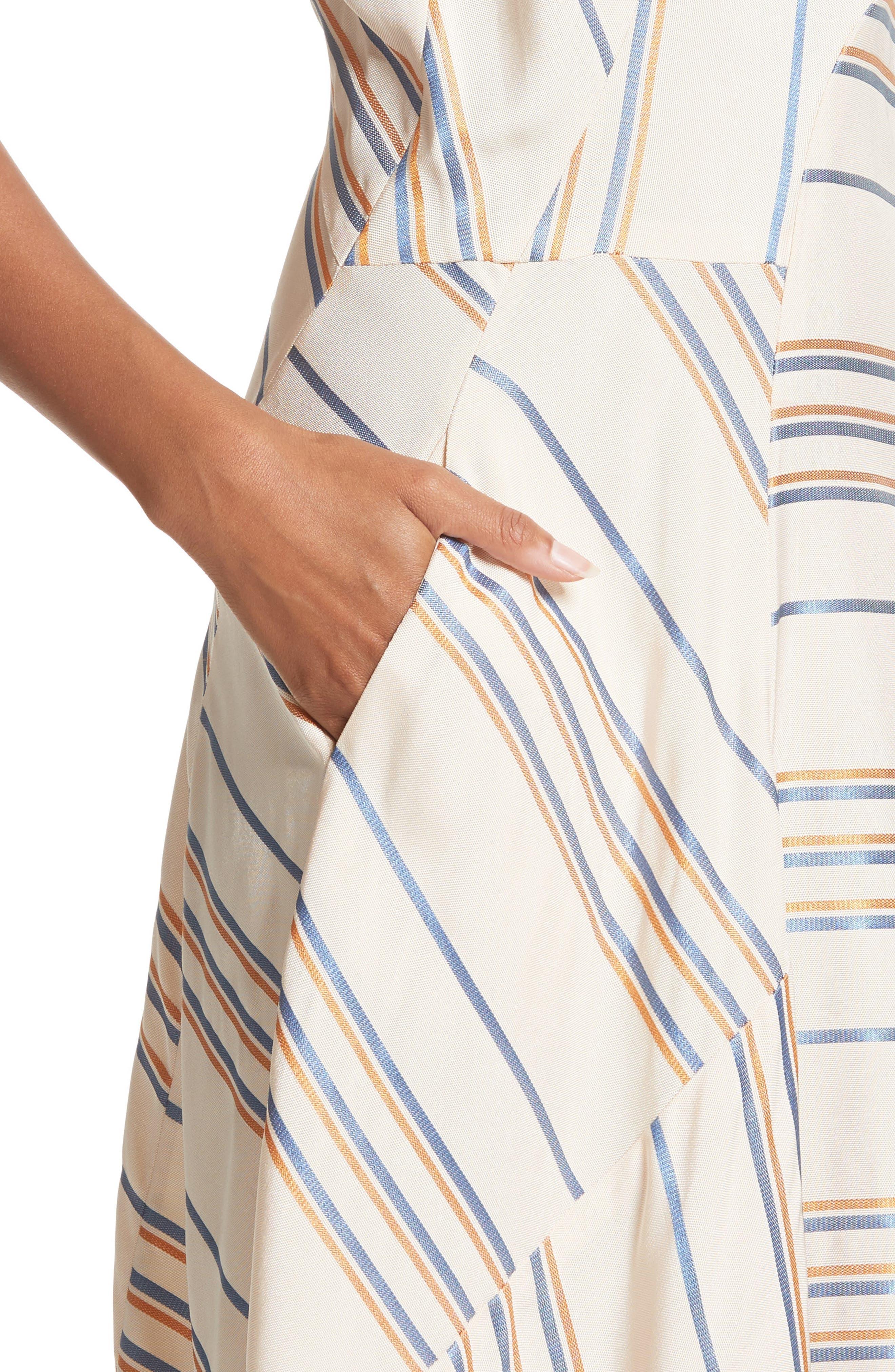 Alternate Image 4  - Zero + Maria Cornejo Stripe Midi Dress