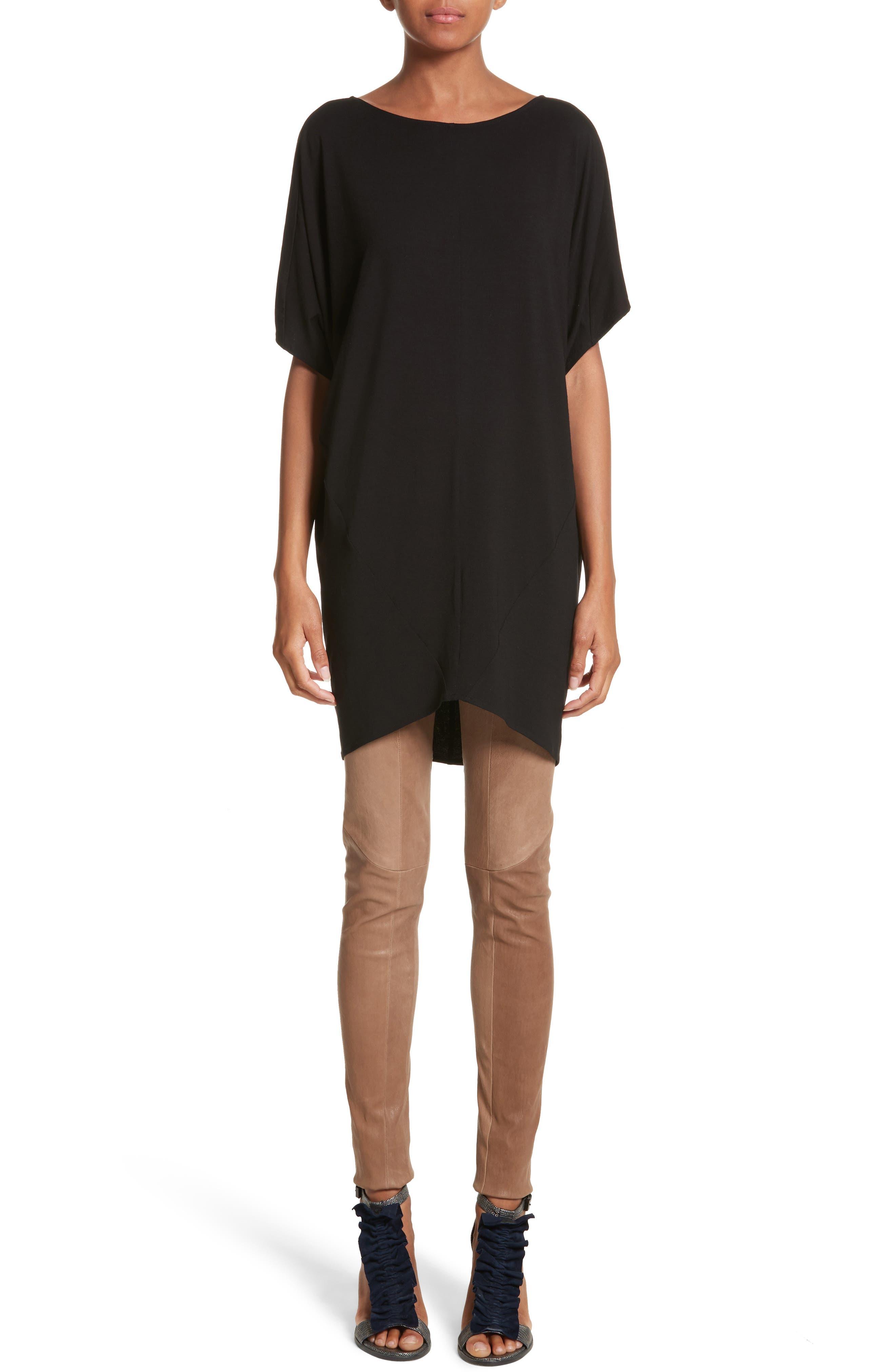 Jersey Dress,                         Main,                         color, Black