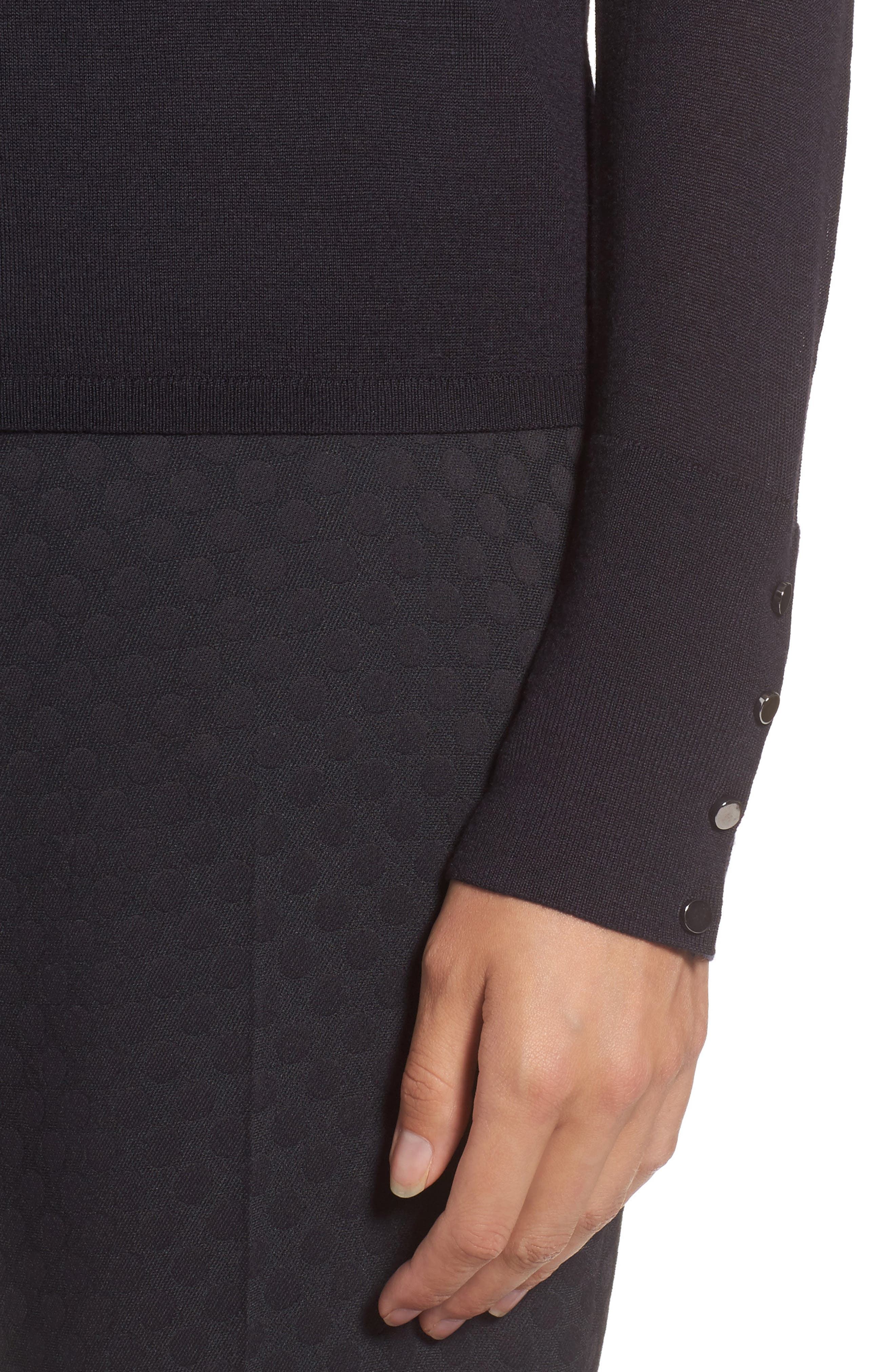 Alternate Image 4  - BOSS Frankie Cuff Detail Wool Sweater (Nordstrom Exclusive)
