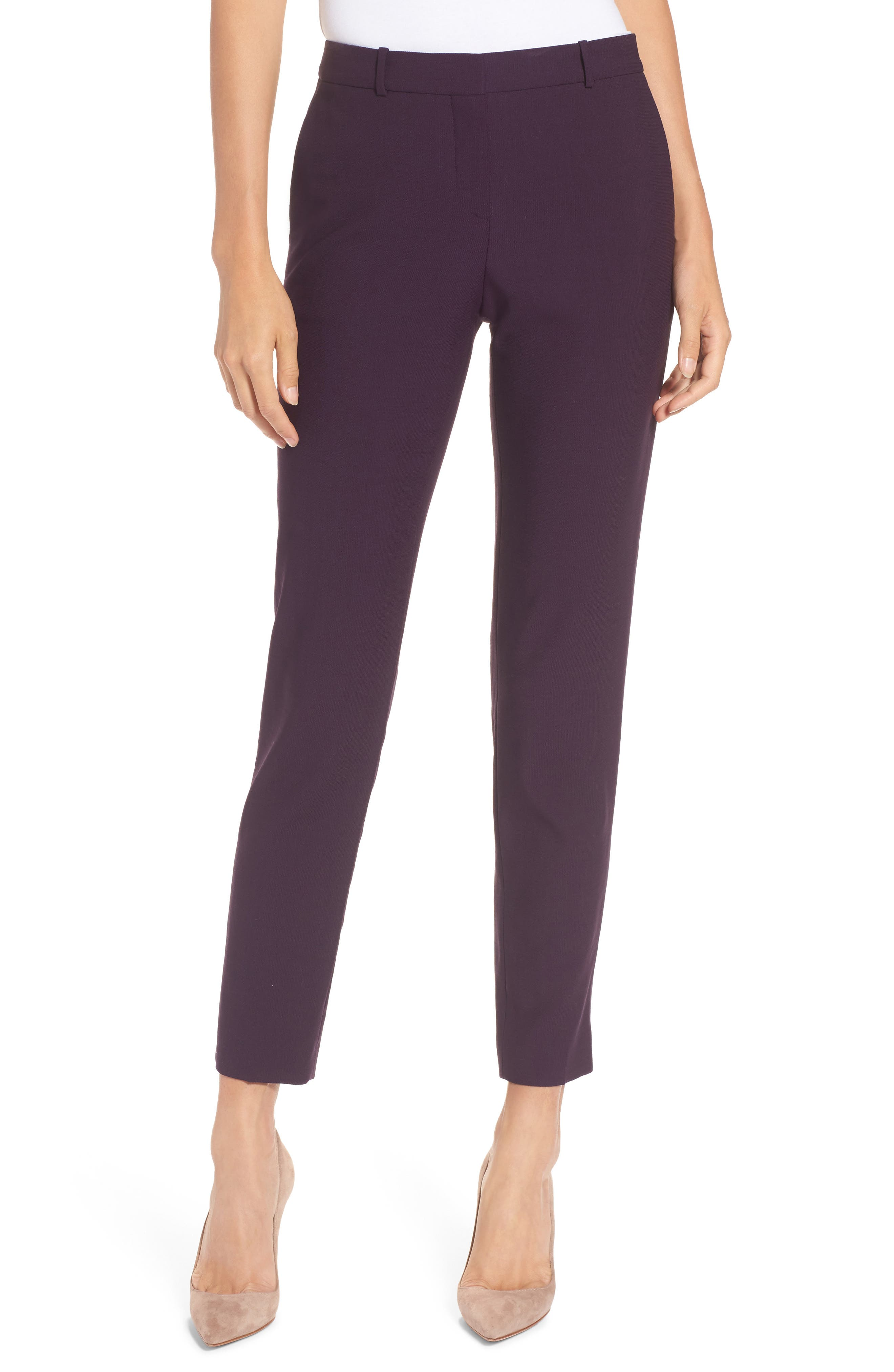 Alternate Image 1 Selected - BOSS Tiluna Straight Leg Wool Suit Pants