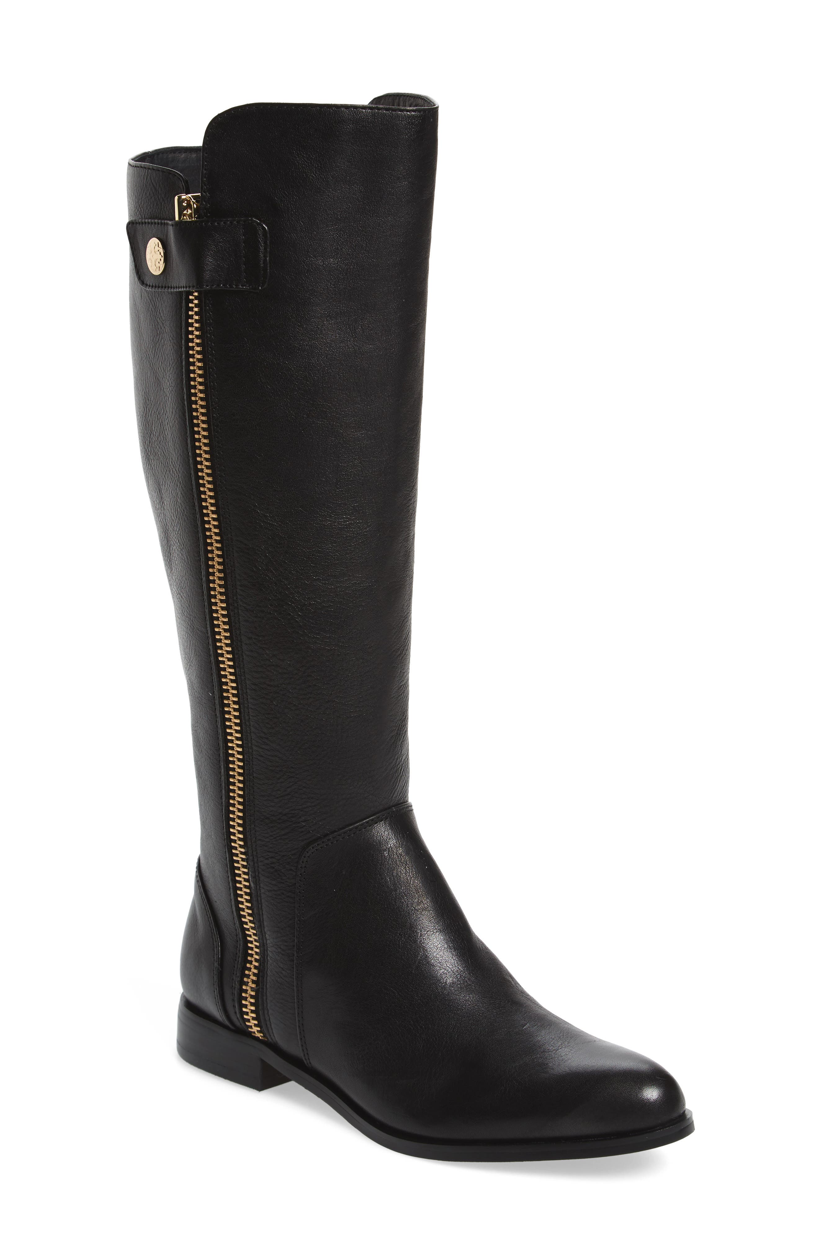 Melino Boot,                             Main thumbnail 1, color,                             Black Leather