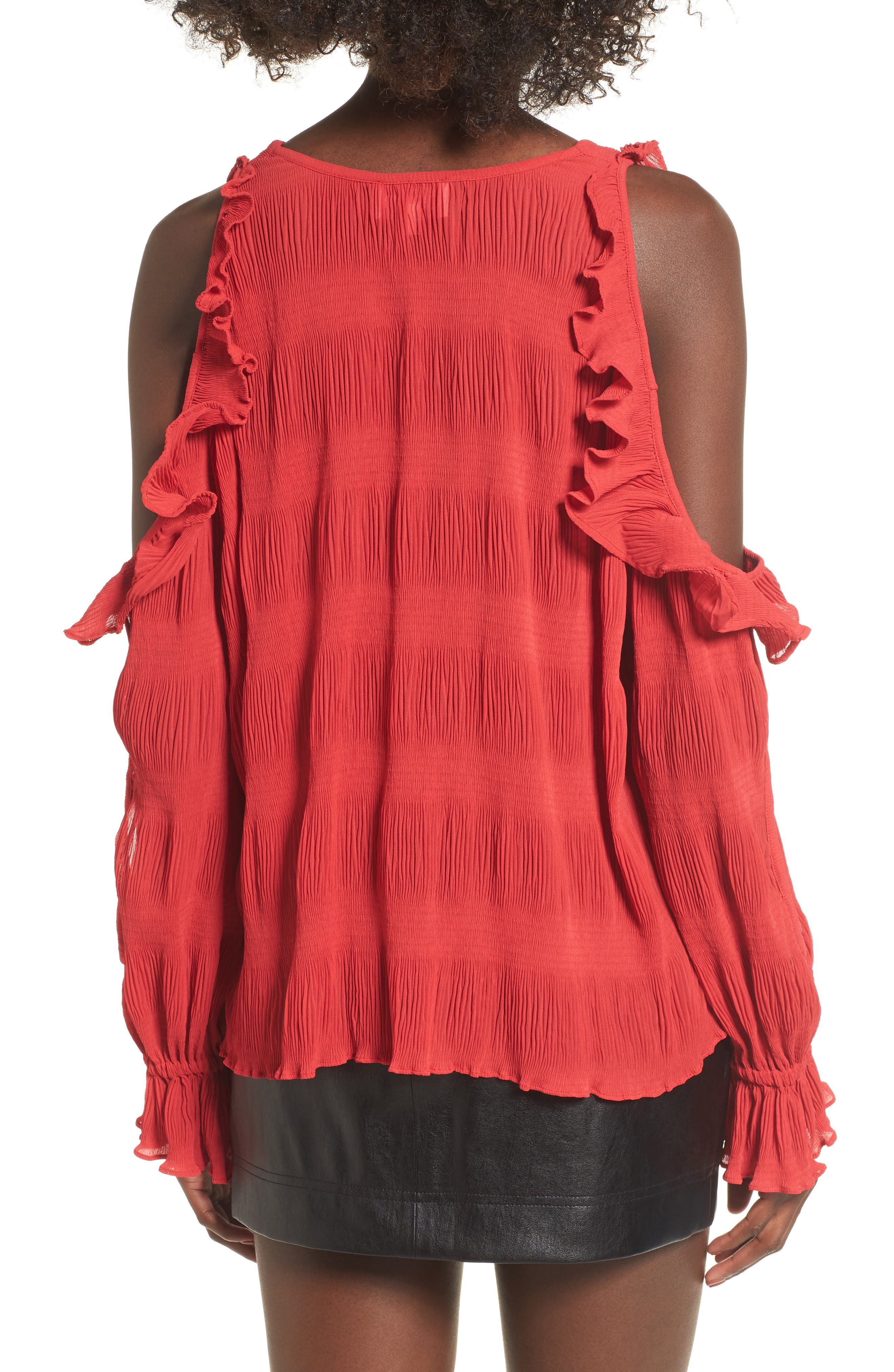 Alternate Image 2  - devlin Topaz Cold Shoulder Blouse
