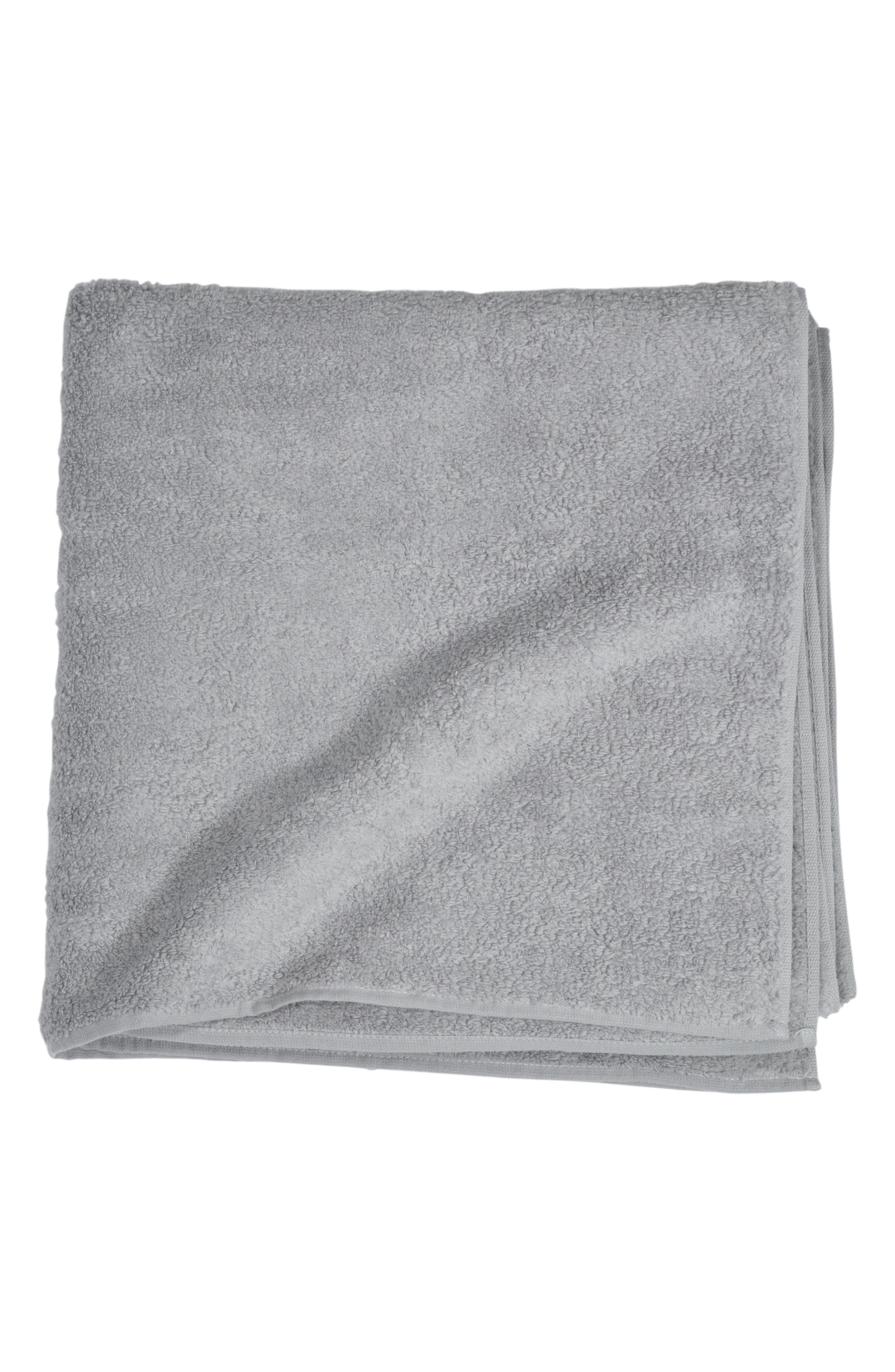 Zero Twist Bath Towel,                         Main,                         color, Grey