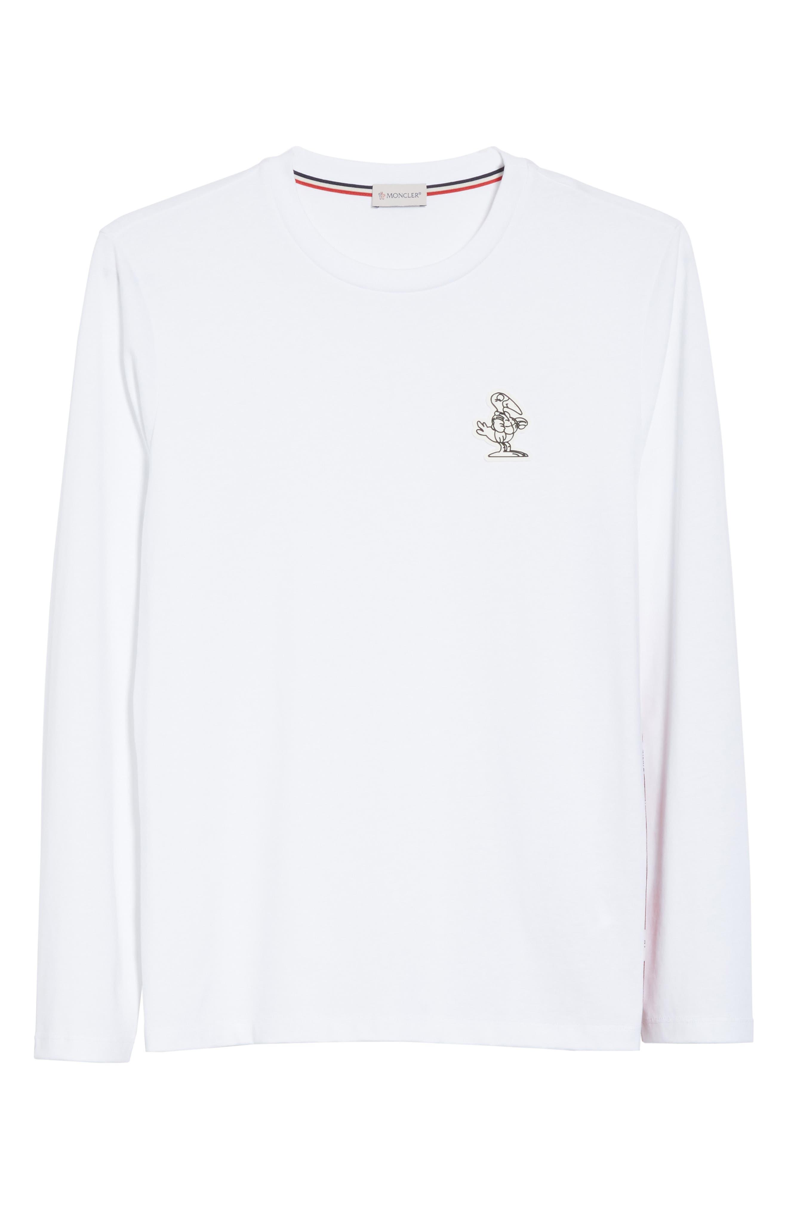 Alternate Image 6  - Moncler Maglia Griccollo Long Sleeve T-Shirt