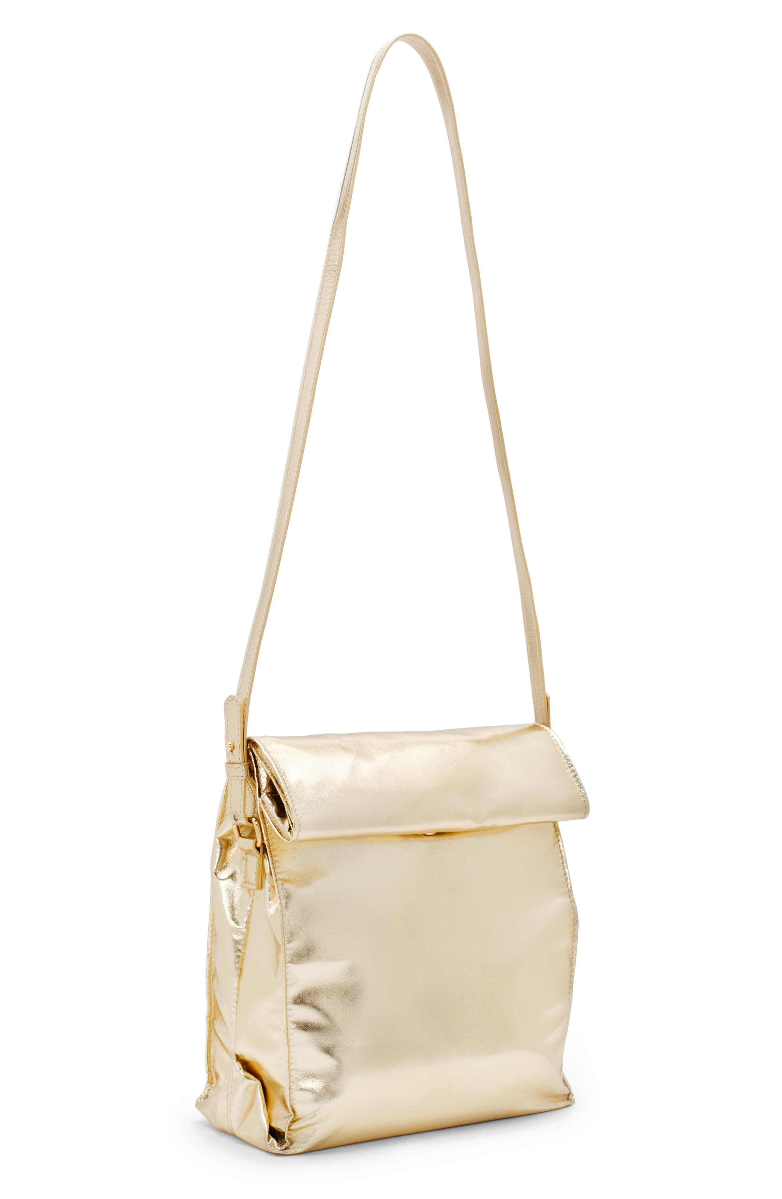 Crossbody Lunch Bag,                             Alternate thumbnail 2, color,                             Metallic Gold