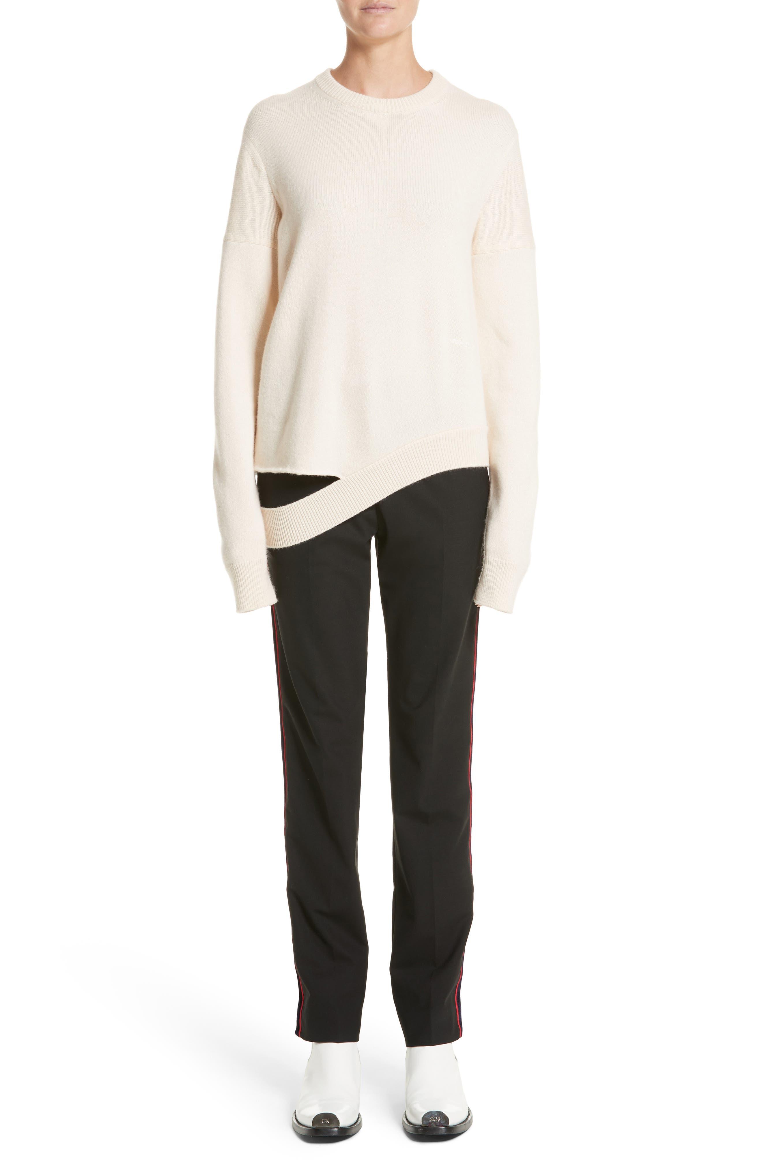 Alternate Image 9  - CALVIN KLEIN 205W39NYC Velvet Stripe Stretch Wool Pants