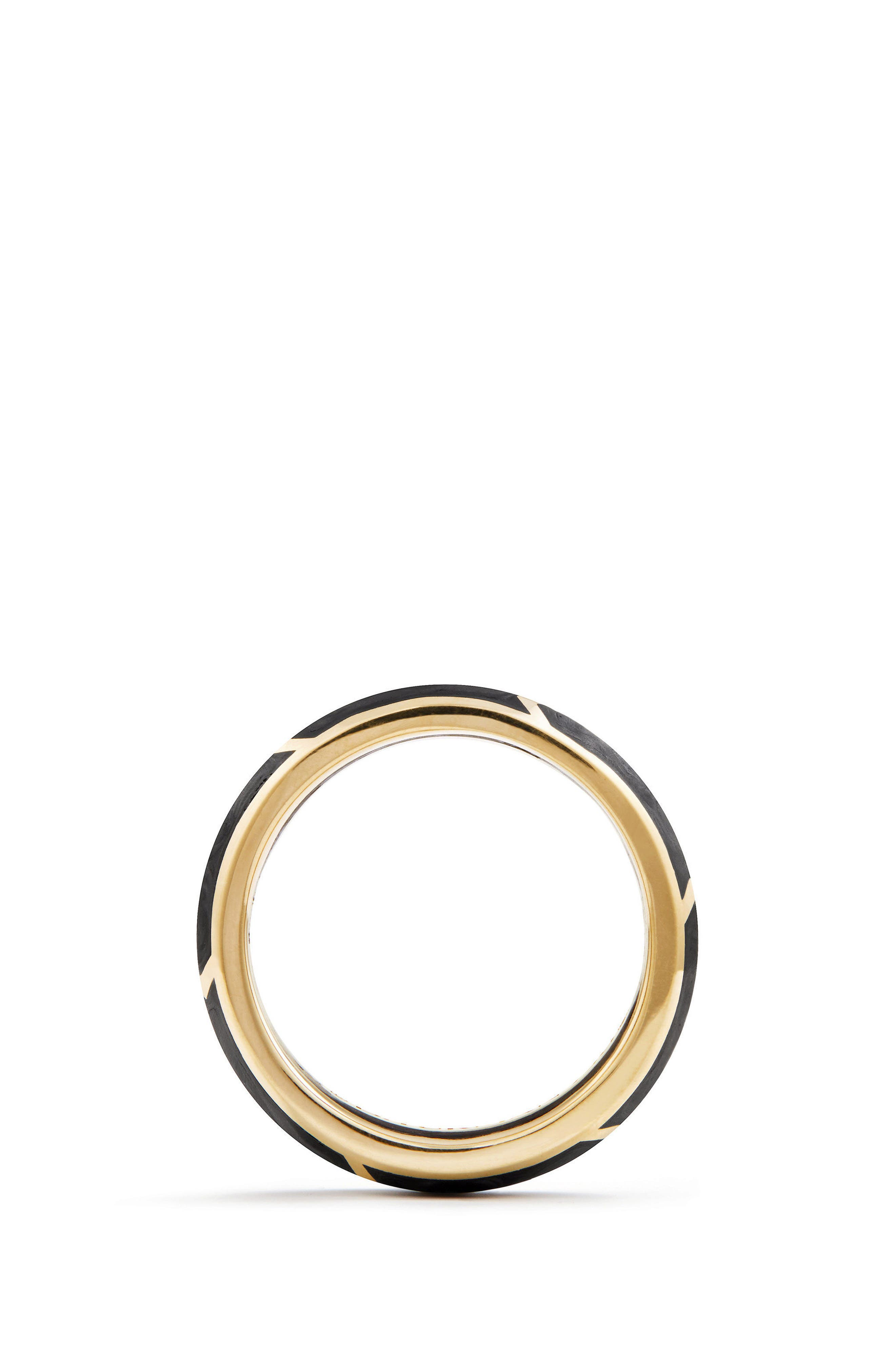 Alternate Image 2  - David Yurman Forged Carbon Band Ring in 18K Gold, 6mm