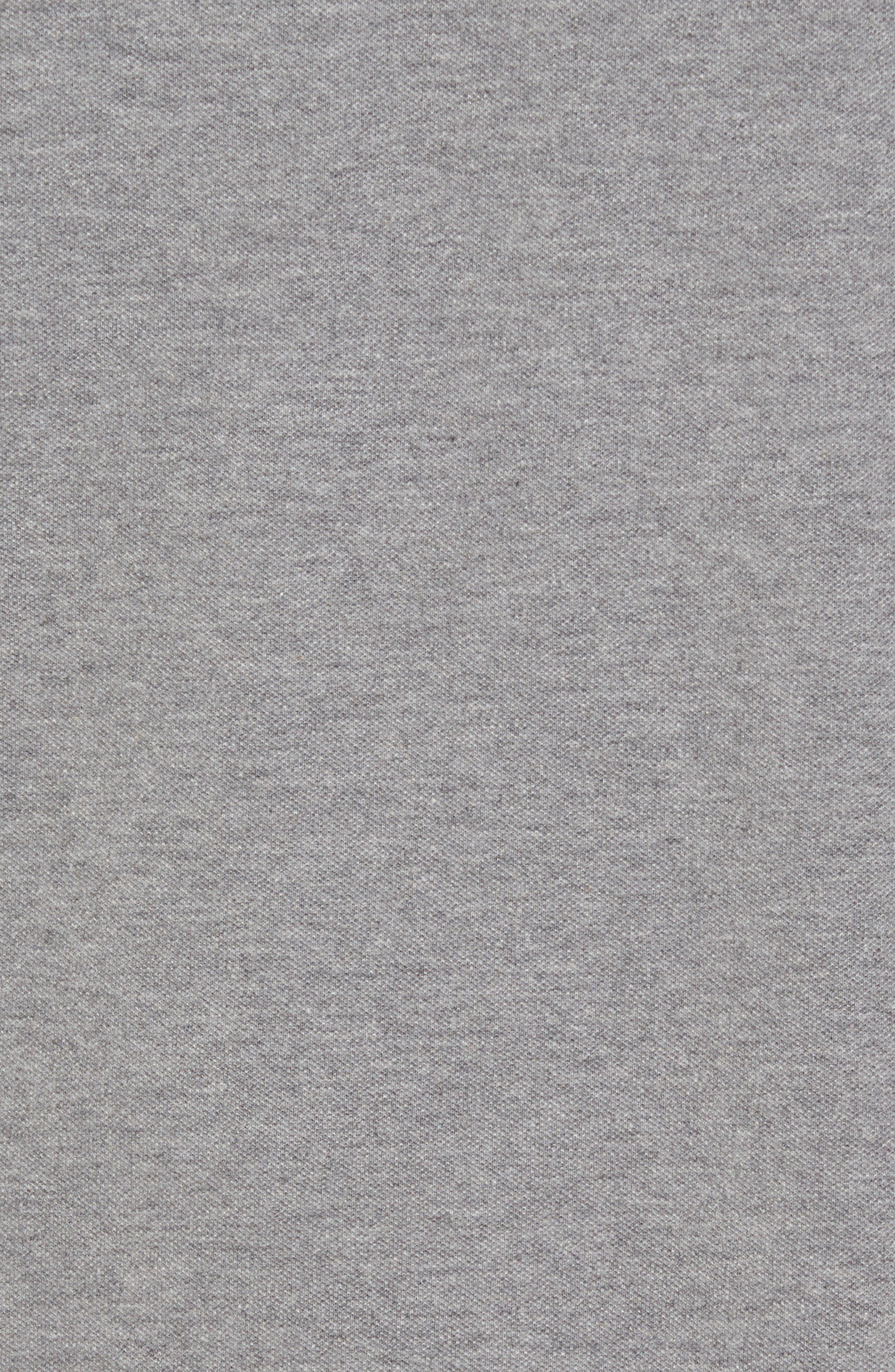 Long Sleeve Polo,                             Alternate thumbnail 5, color,                             Medium Heather Gray