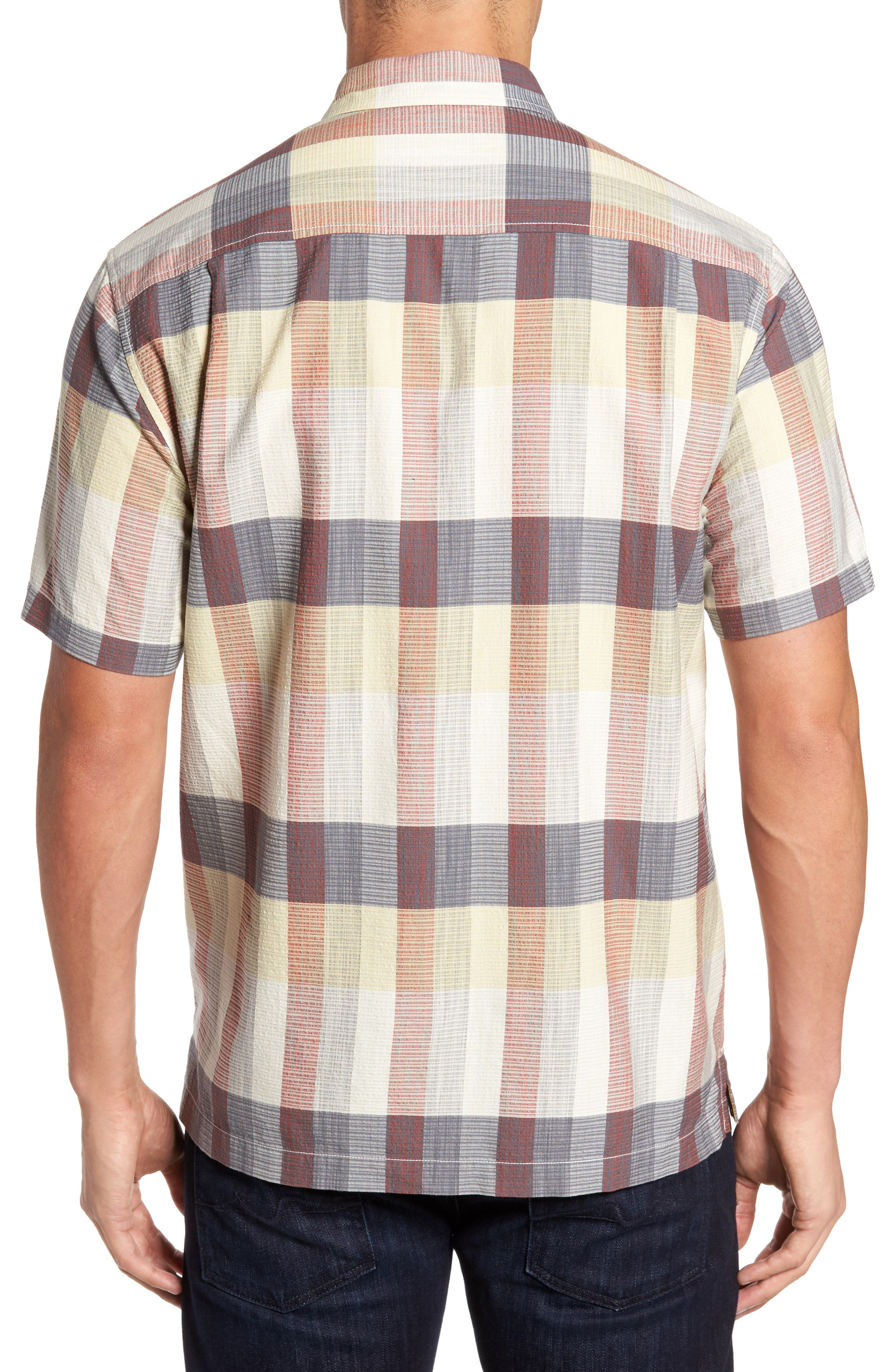 Tamuda Bay Plaid Silk Blend Camp Shirt,                             Alternate thumbnail 2, color,                             Twill