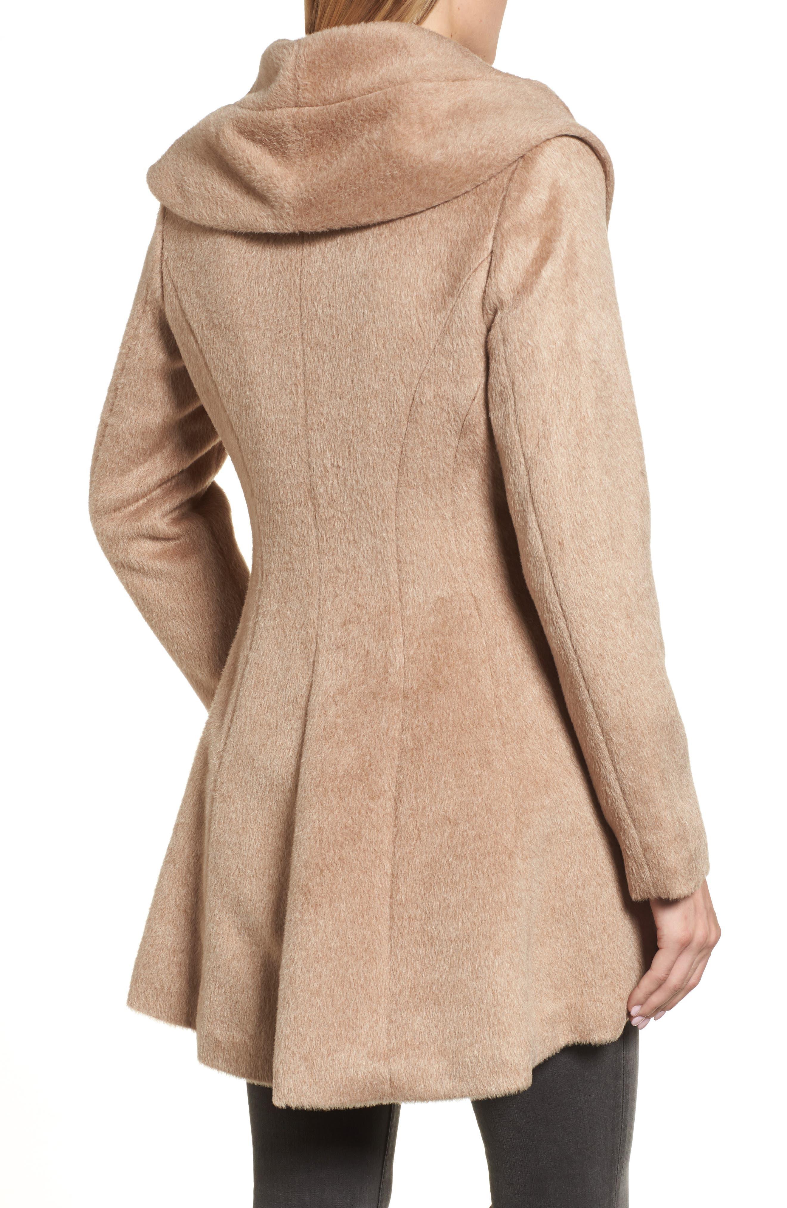 Jemma Shawl Collar Coat,                             Alternate thumbnail 2, color,                             Fawn