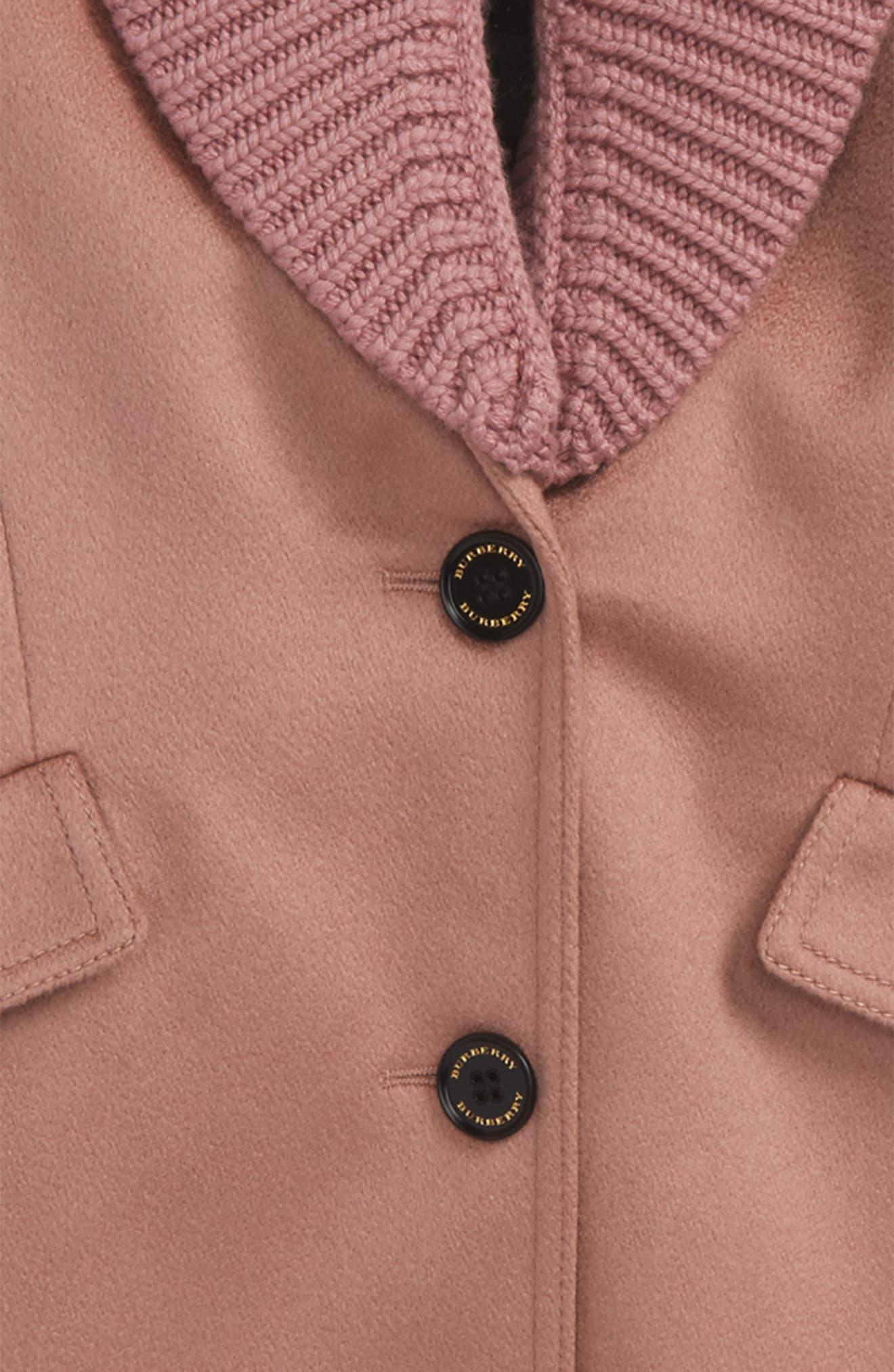 Alternate Image 2  - Burberry Bridget Shawl Collar Cashmere Coat (Little Girls & Big Girls)