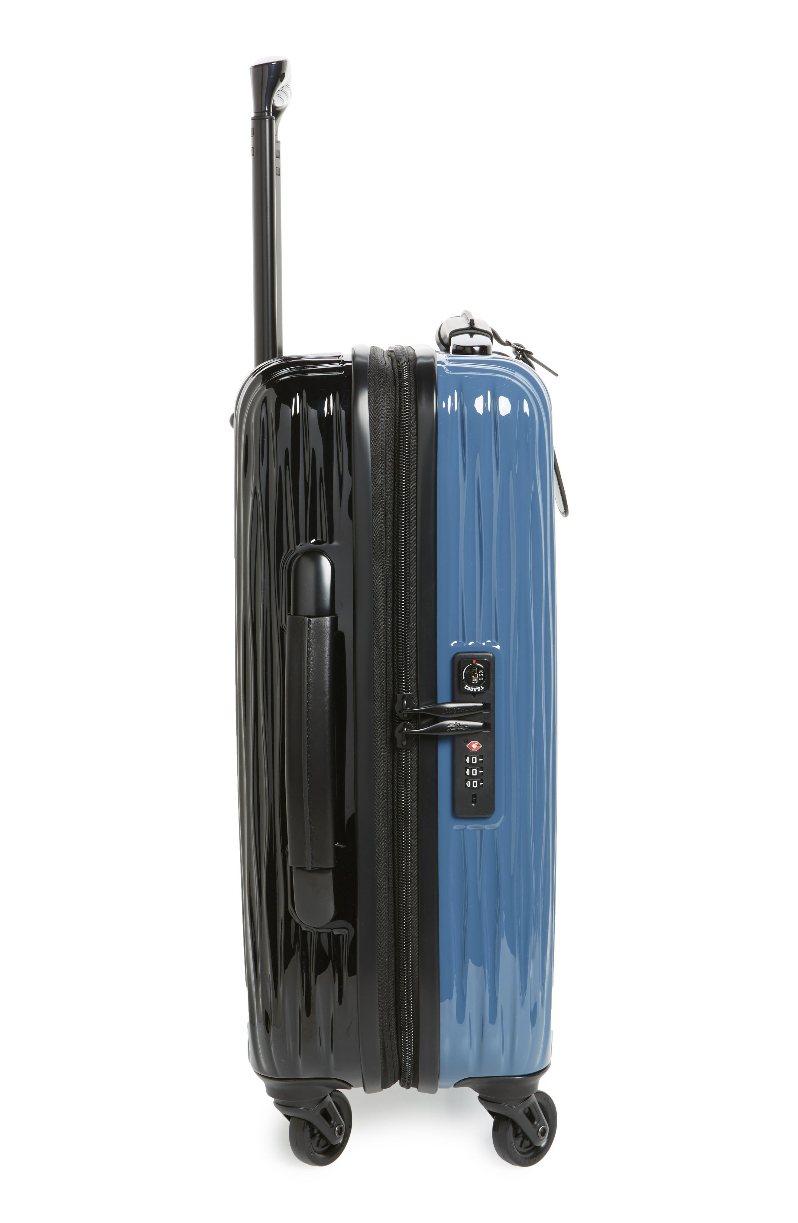 Ruban 22-Inch Four-Wheel Hard Shell Suitcase,                             Alternate thumbnail 4, color,                             Blk/ Pilblue