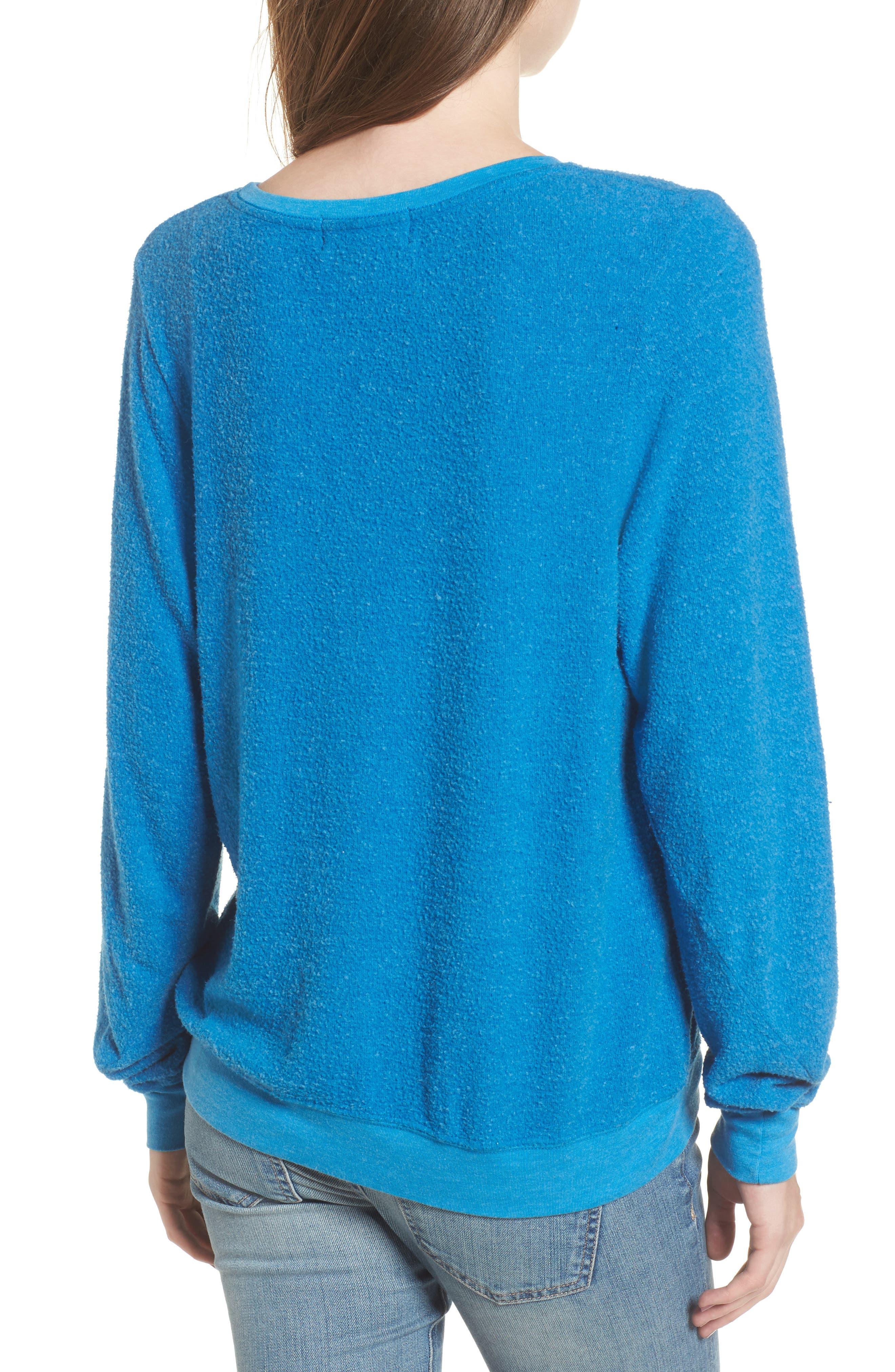 Owl Love You Forever Sweatshirt,                             Alternate thumbnail 2, color,                             Cobalt Sea