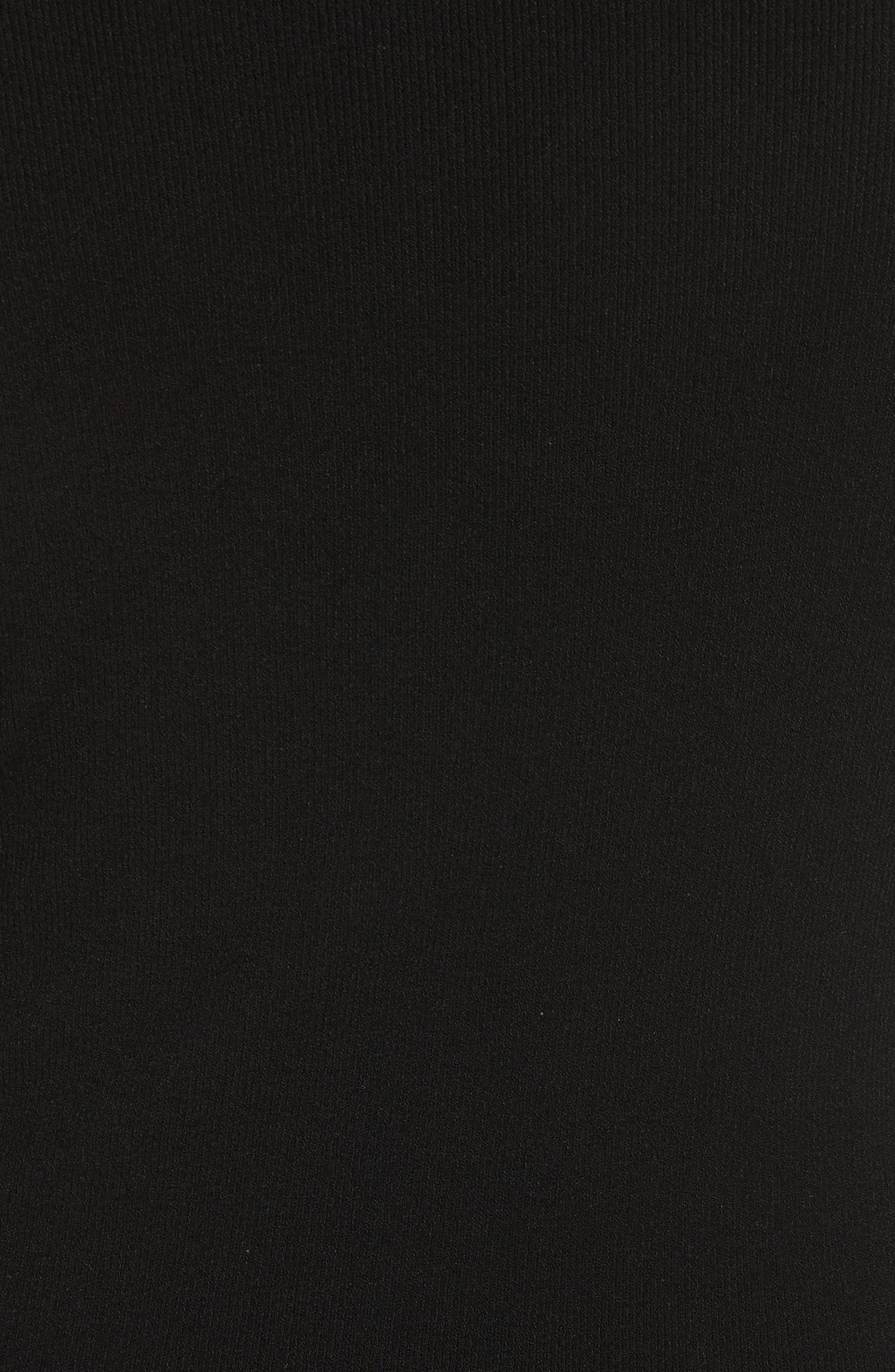 Camden Cutout Turtleneck Sweater,                             Alternate thumbnail 5, color,                             Black
