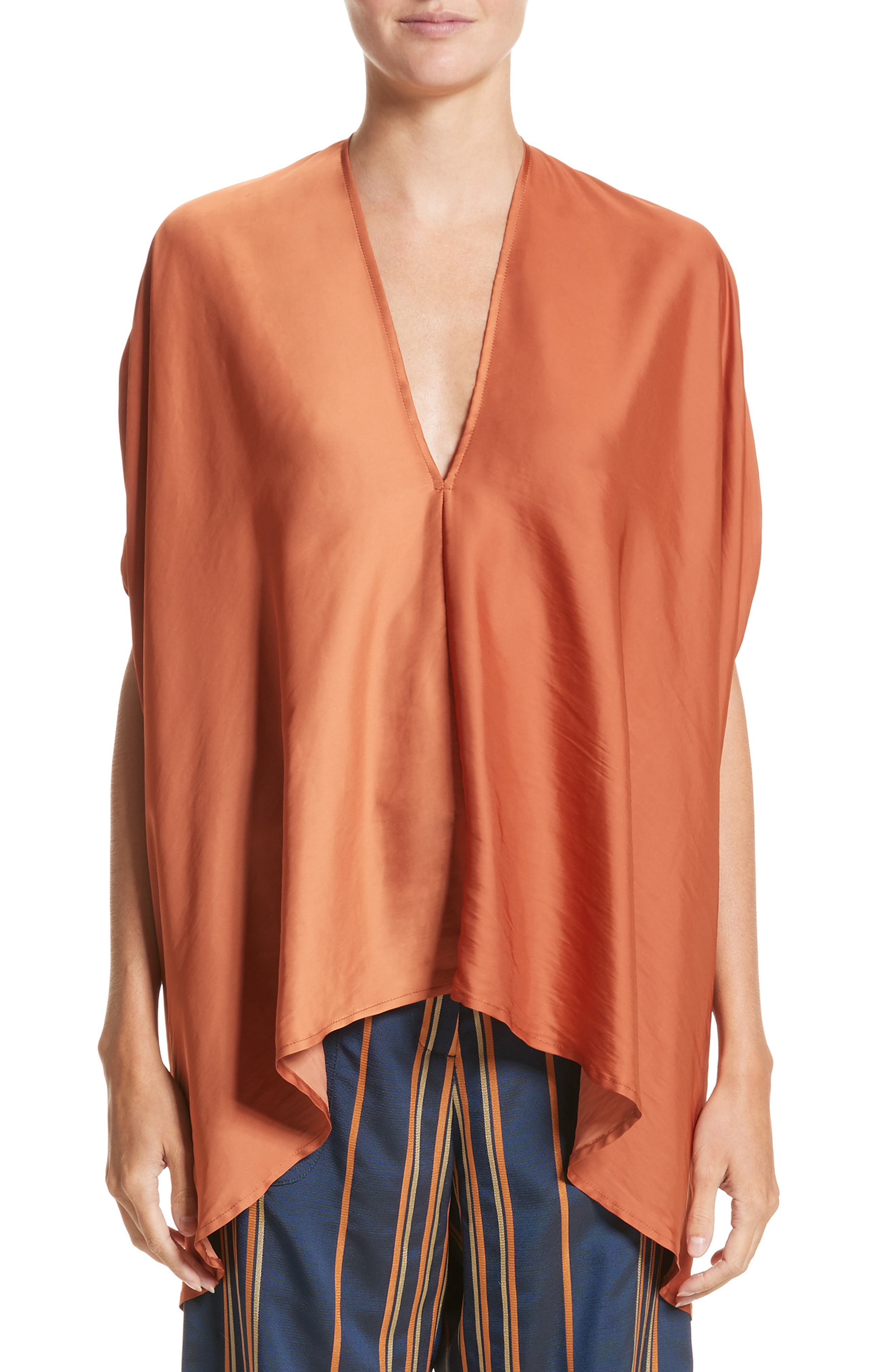 Drape Blouse,                         Main,                         color, Tumeric