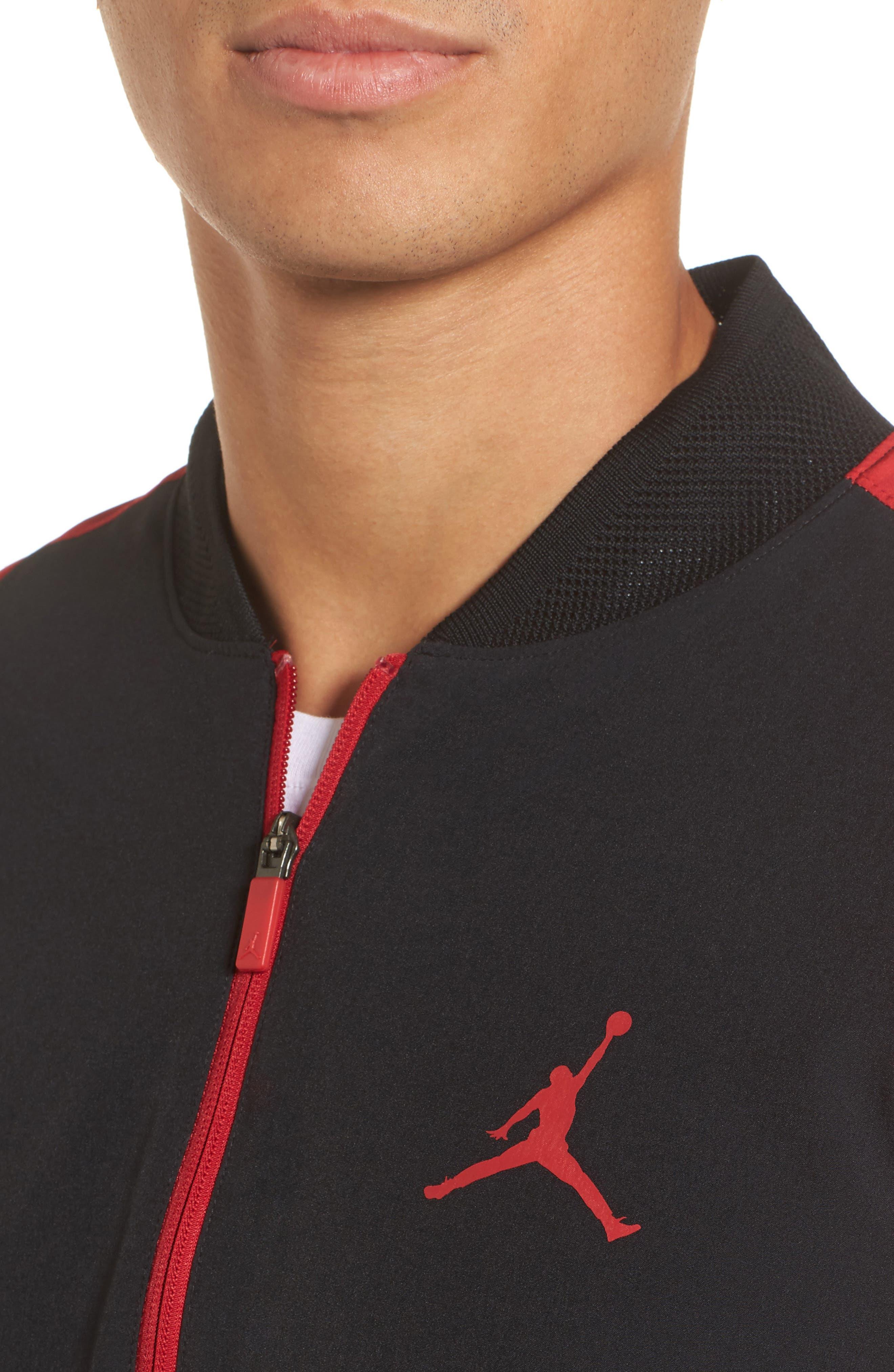 Ultimate Flight Zip Jacket,                             Alternate thumbnail 4, color,                             Black/ Gym Red