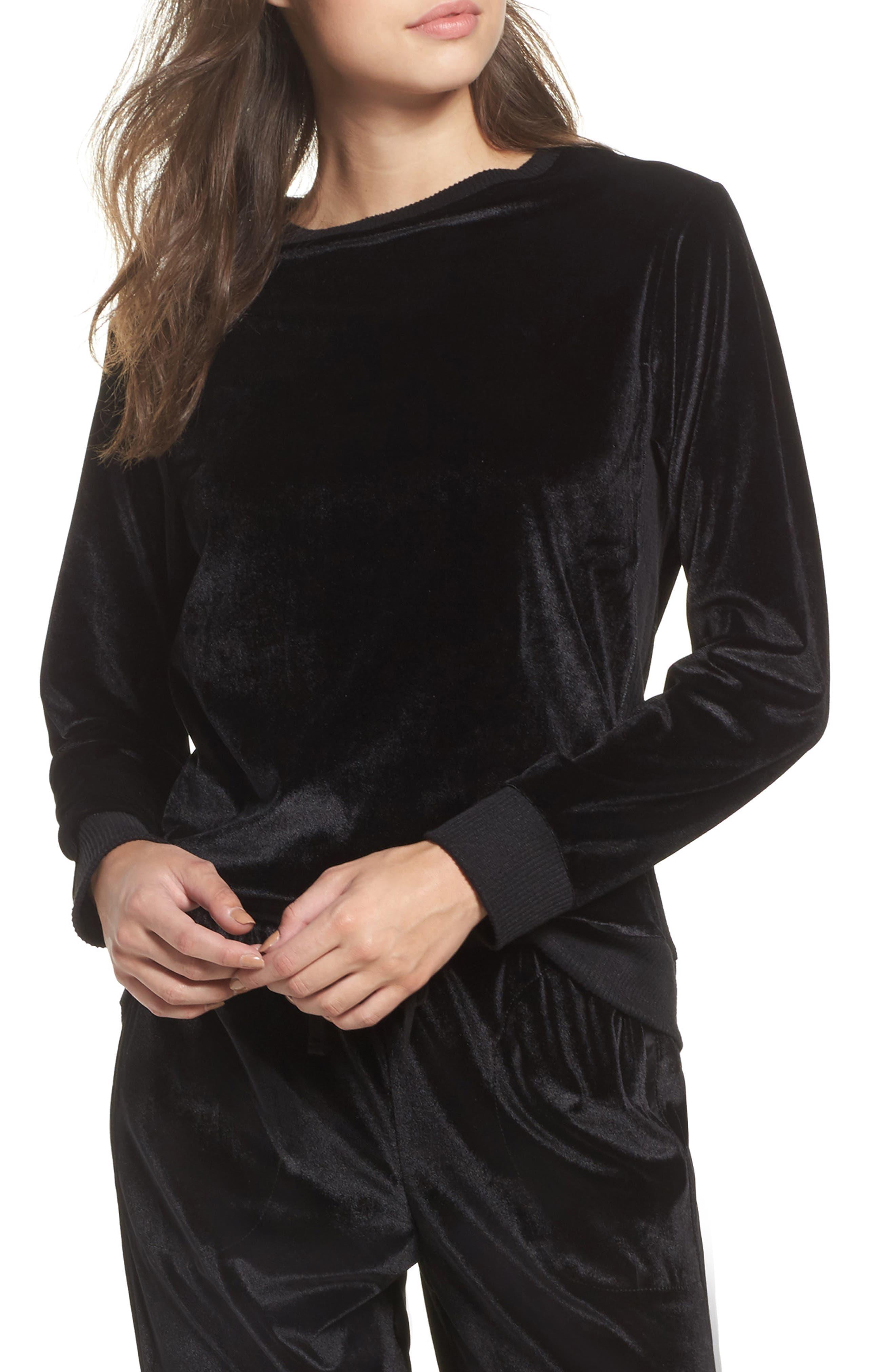 Alternate Image 1 Selected - DKNY Velour Sweatshirt
