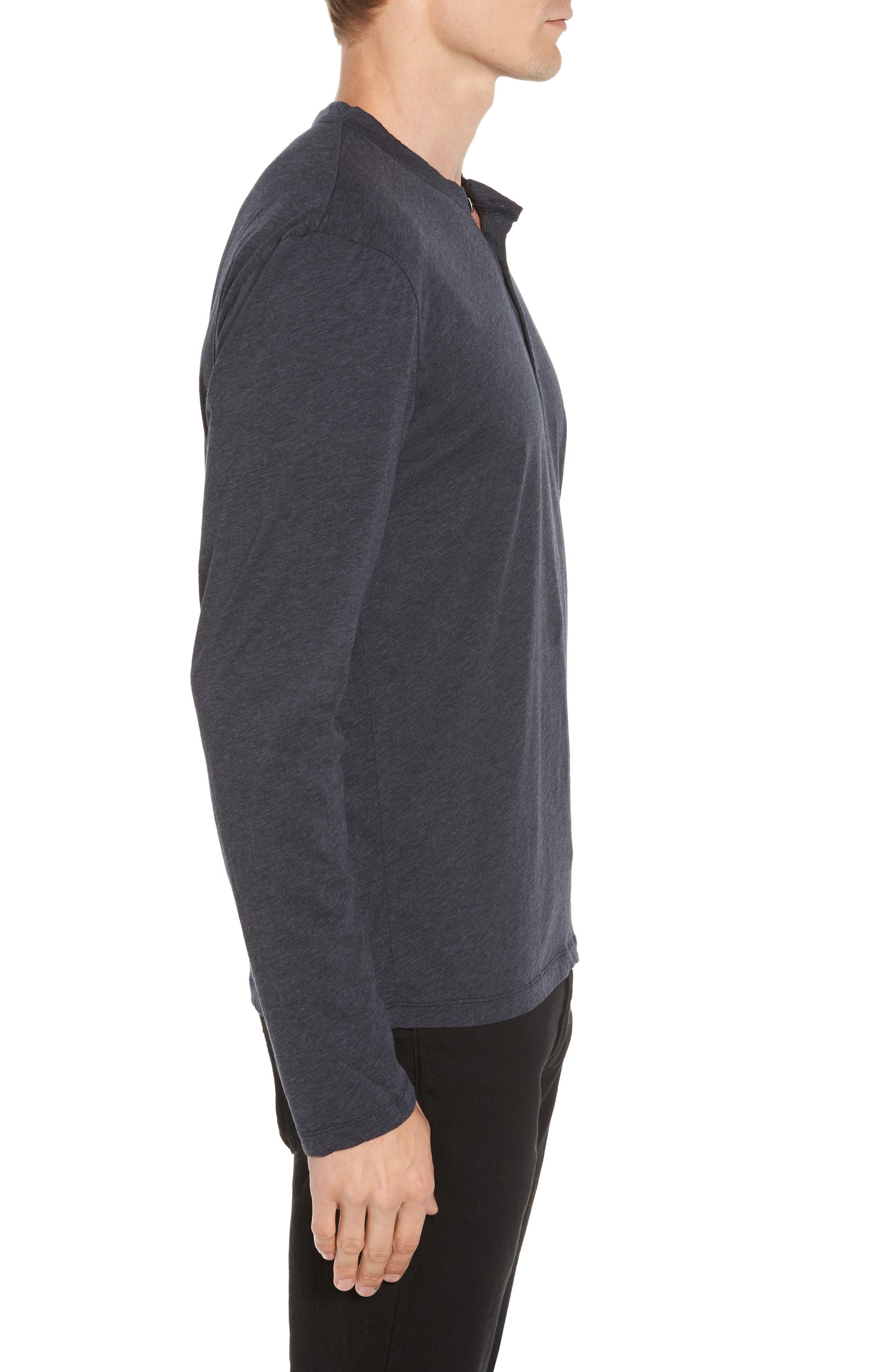 Alternate Image 3  - James Perse Long Sleeve Cotton & Cashmere Henley T-Shirt