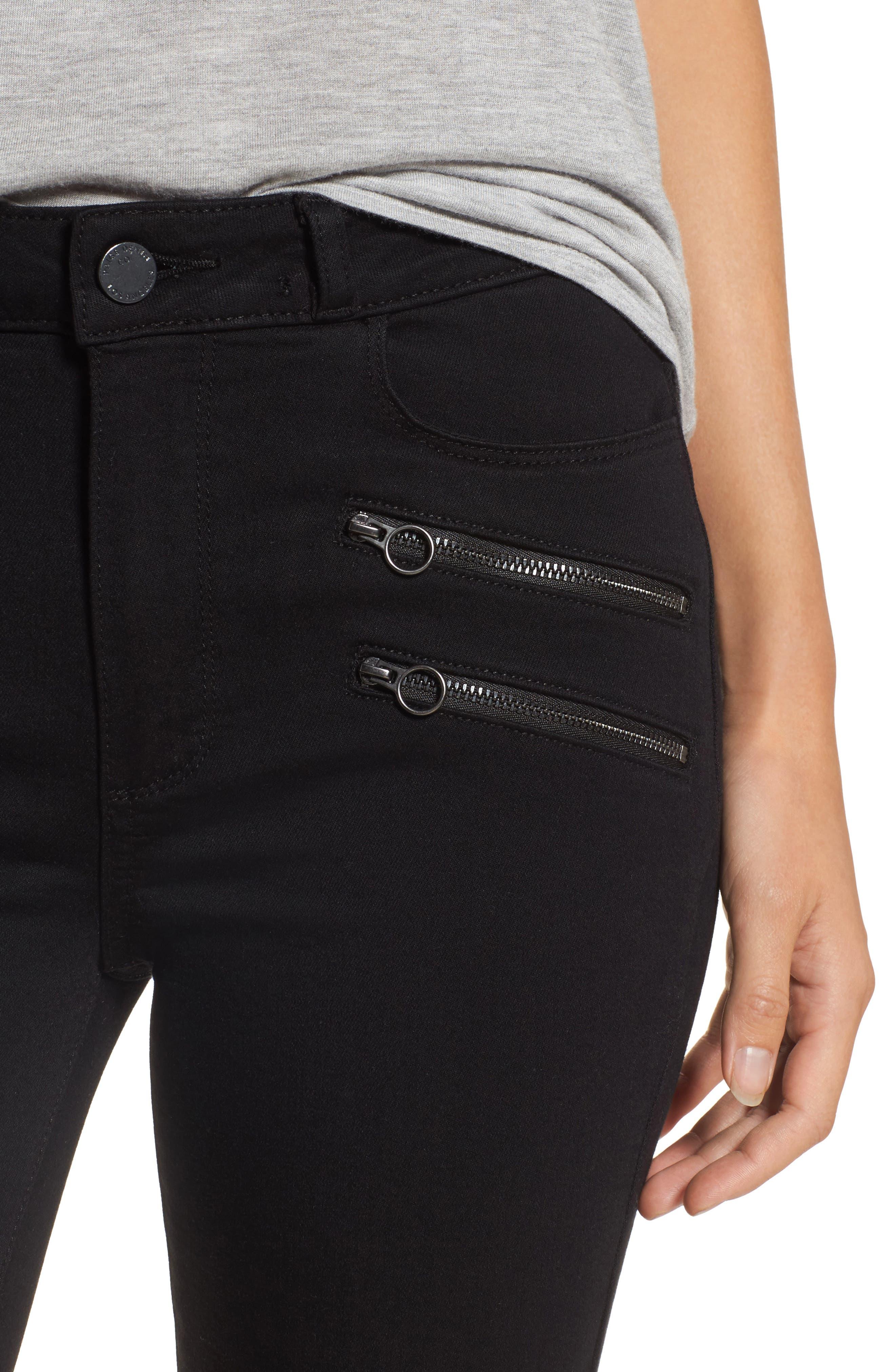 Alternate Image 5  - PAIGE Transcend - Kylo High Waist Skinny Jeans (Black Shadow)