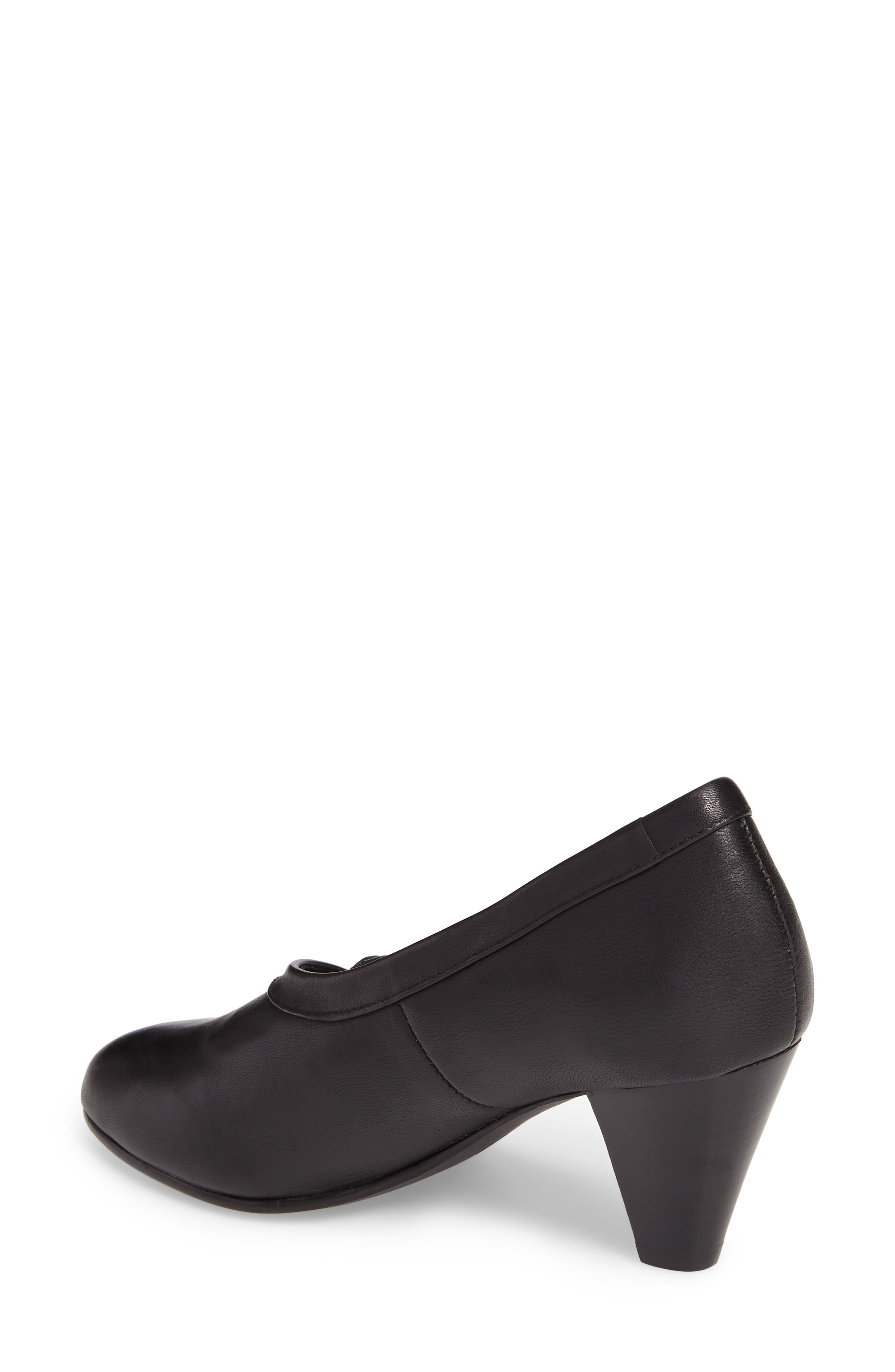 Kelly Pump,                             Alternate thumbnail 2, color,                             Black Leather