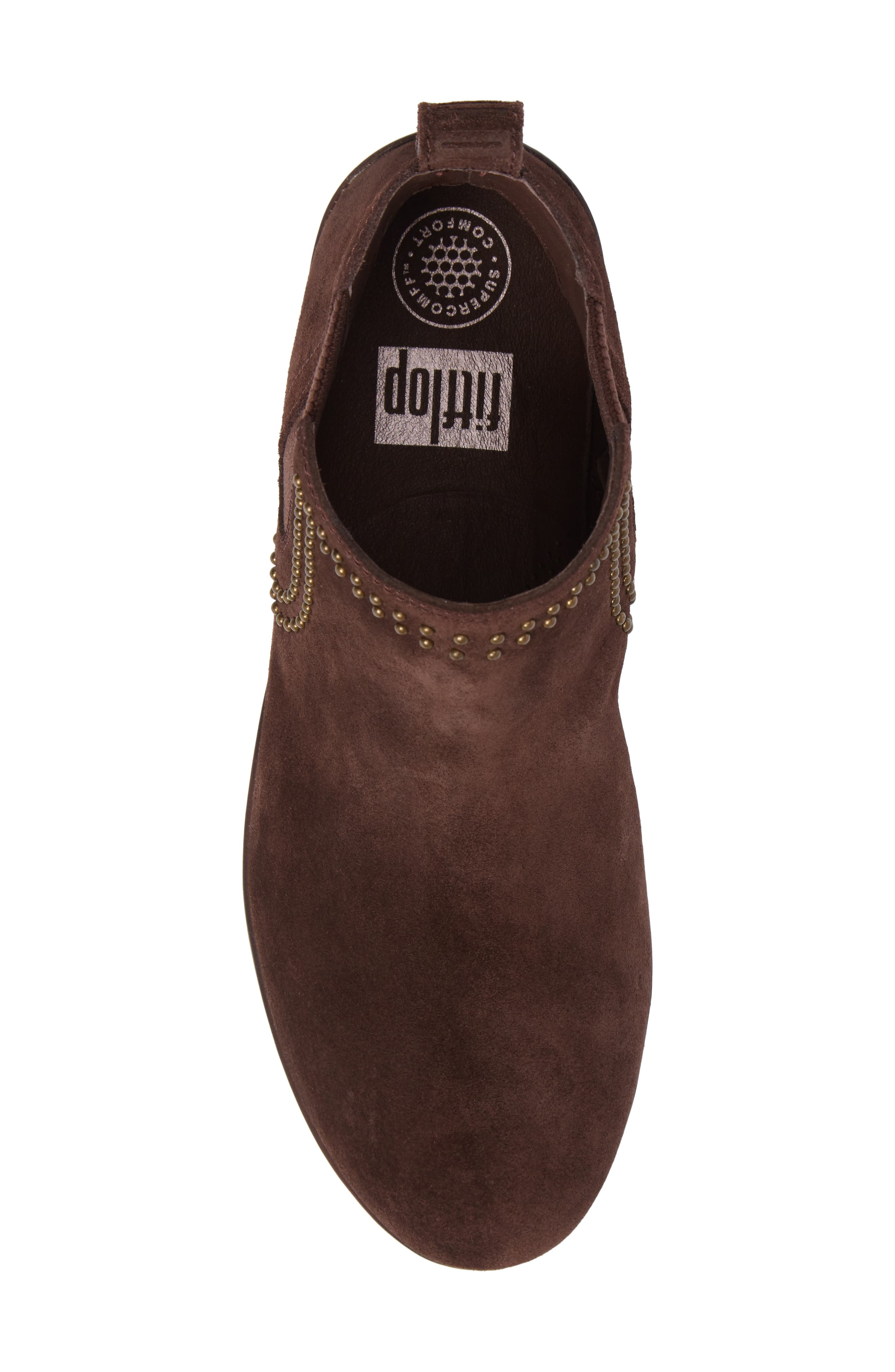 Superchelsea Studded Boot,                             Alternate thumbnail 5, color,                             Chocolate