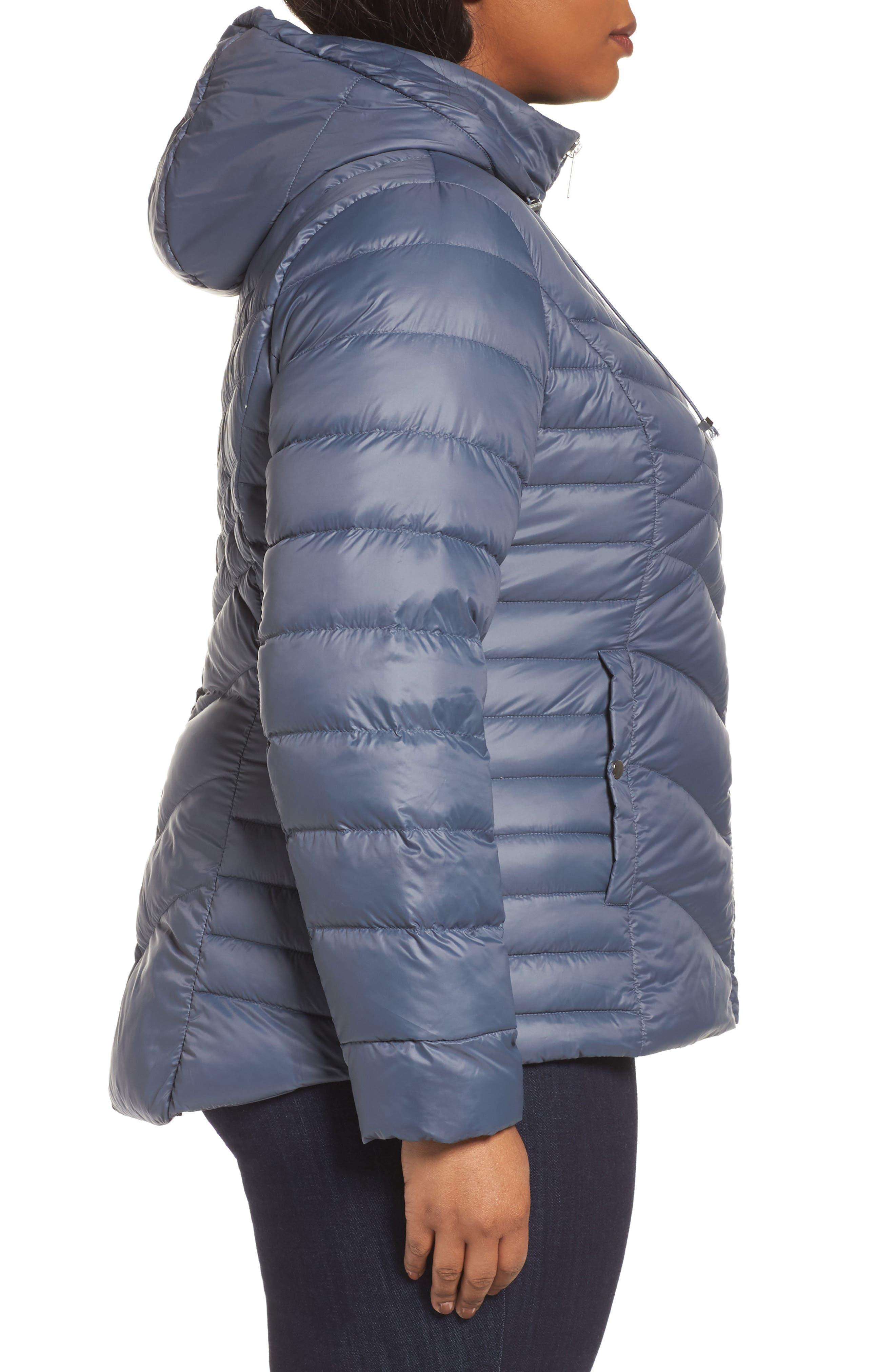 Alternate Image 3  - Halogen® Hooded Down Blend Puffer Jacket (Plus Size)