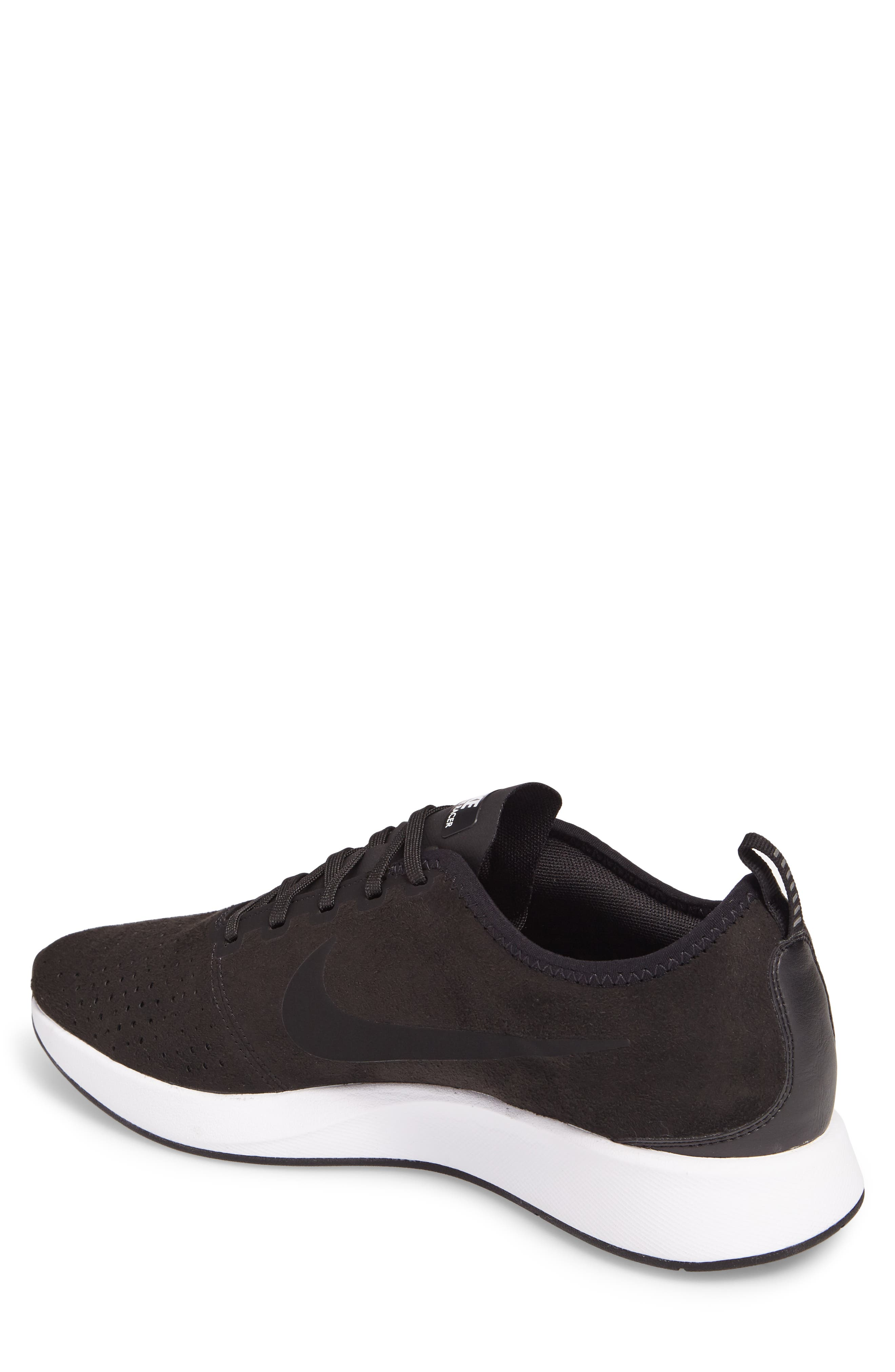 Dualtone Racer Premium Sneaker,                             Alternate thumbnail 2, color,                             Black/Black/White