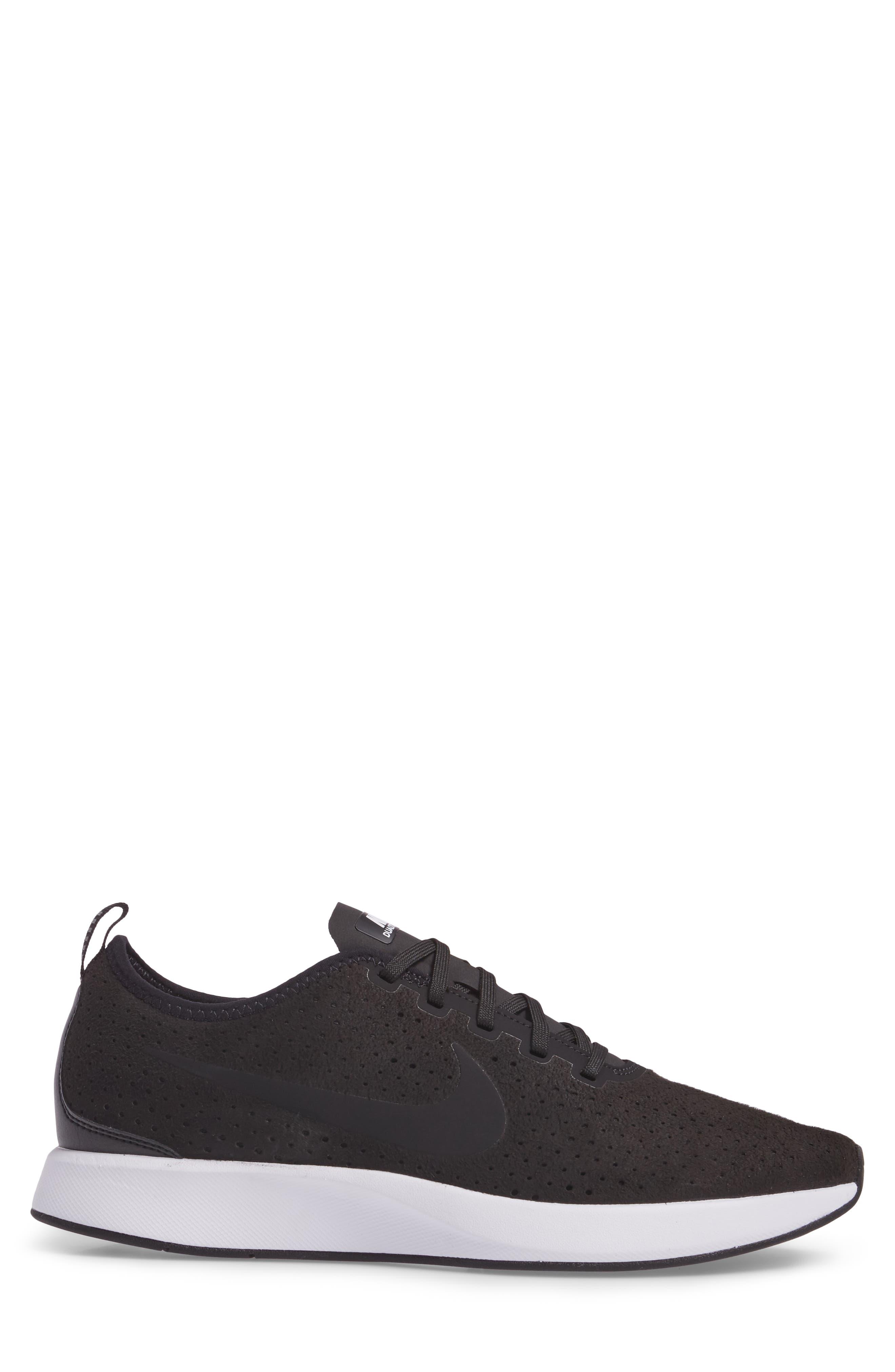 Dualtone Racer Premium Sneaker,                             Alternate thumbnail 3, color,                             Black/Black/White