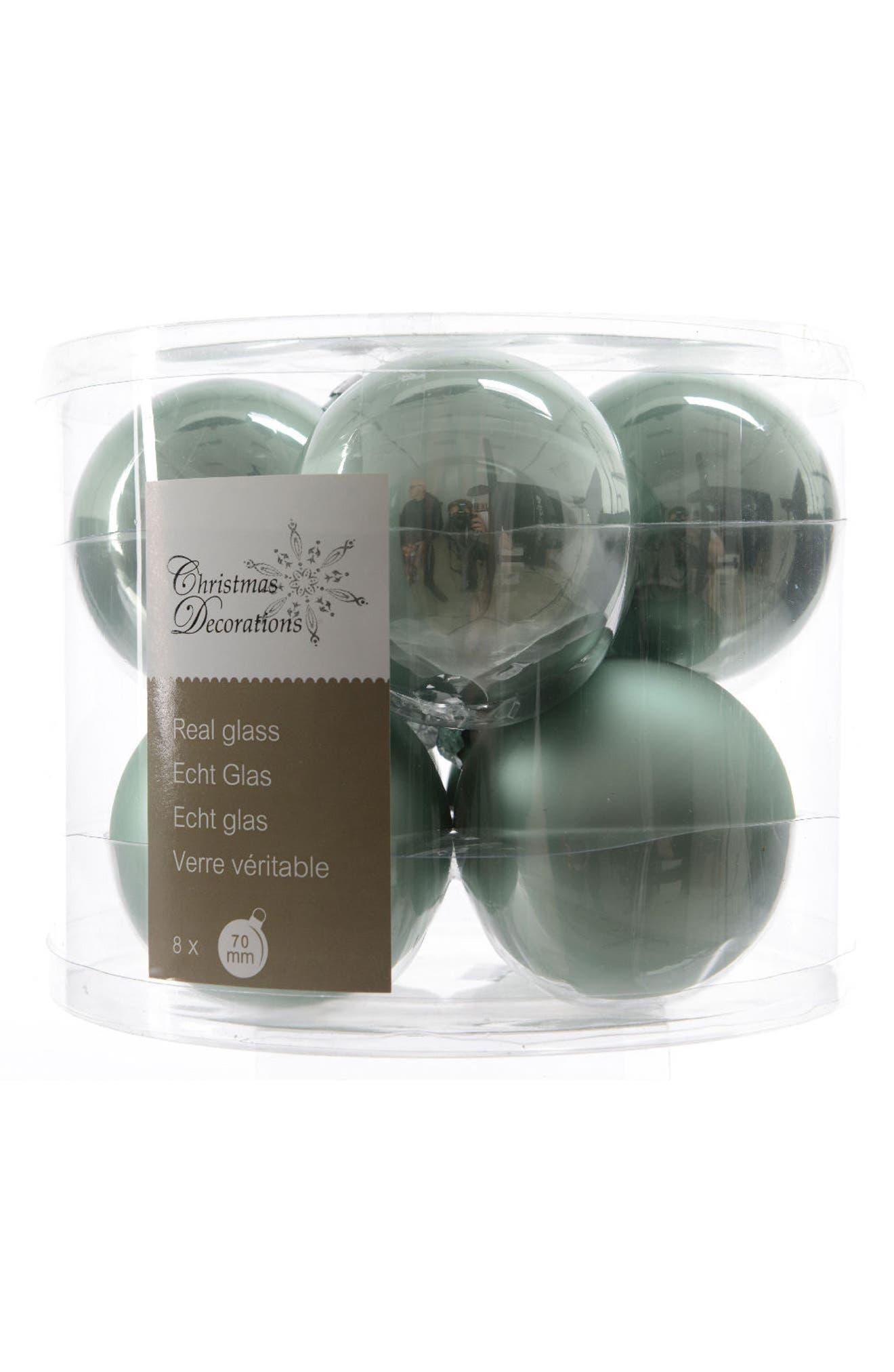 Glass Ball Ornaments,                         Main,                         color, Green