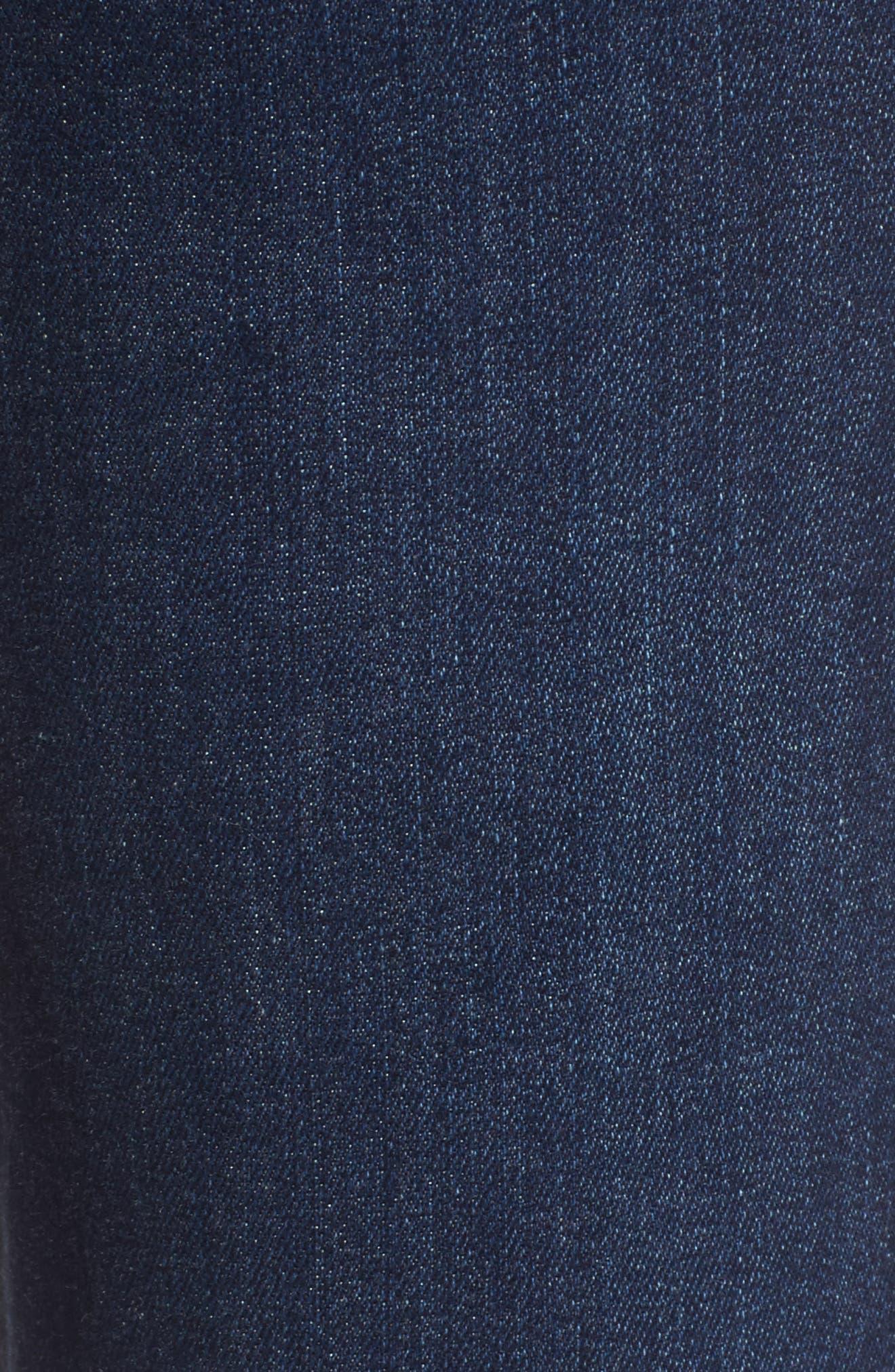 Margot High Waist Ankle Skinny Jeans,                             Alternate thumbnail 5, color,                             Davidson Destructed