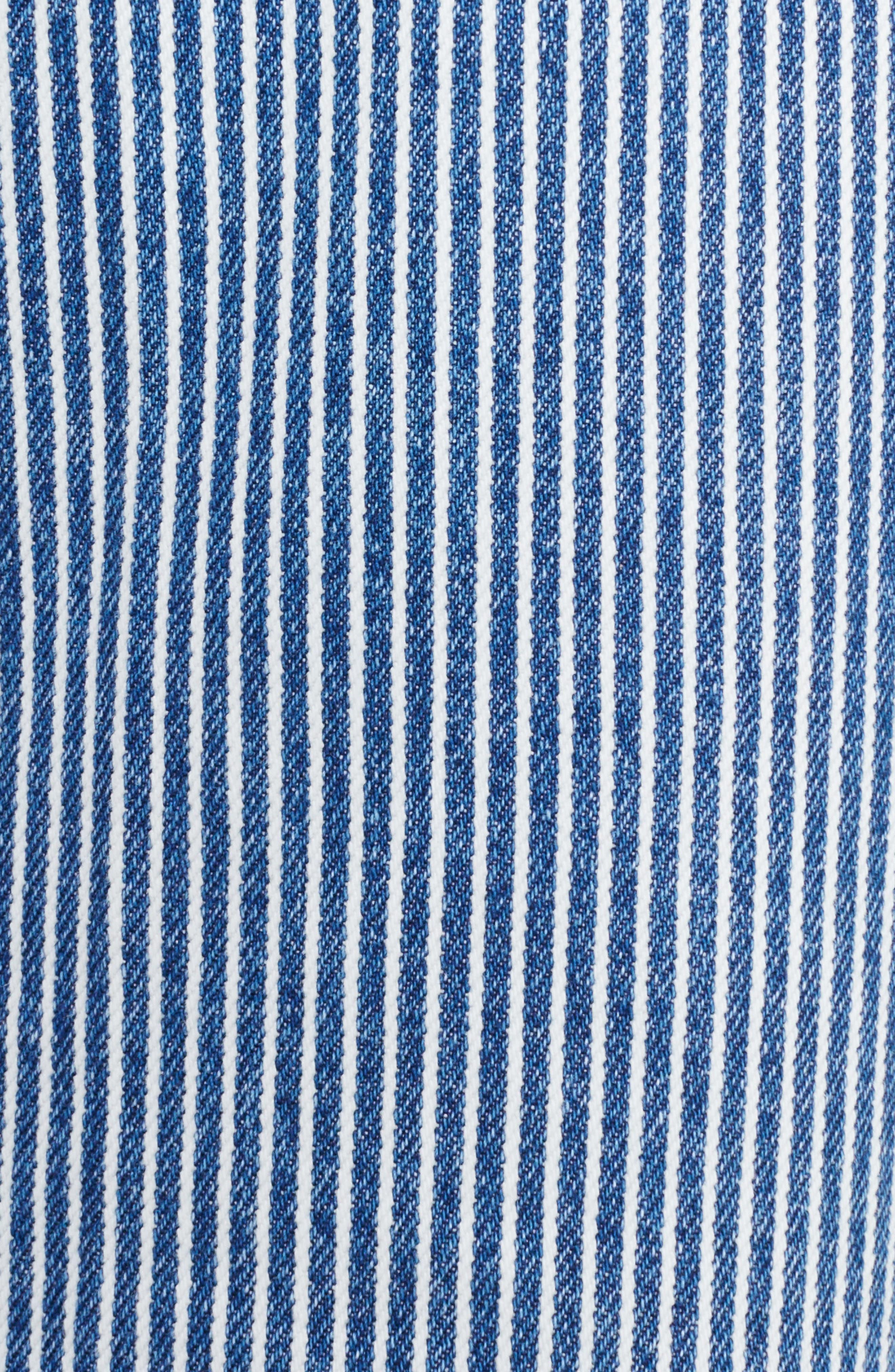 Alternate Image 5  - TOGA Stripe Straight Leg Jeans (Navy White)