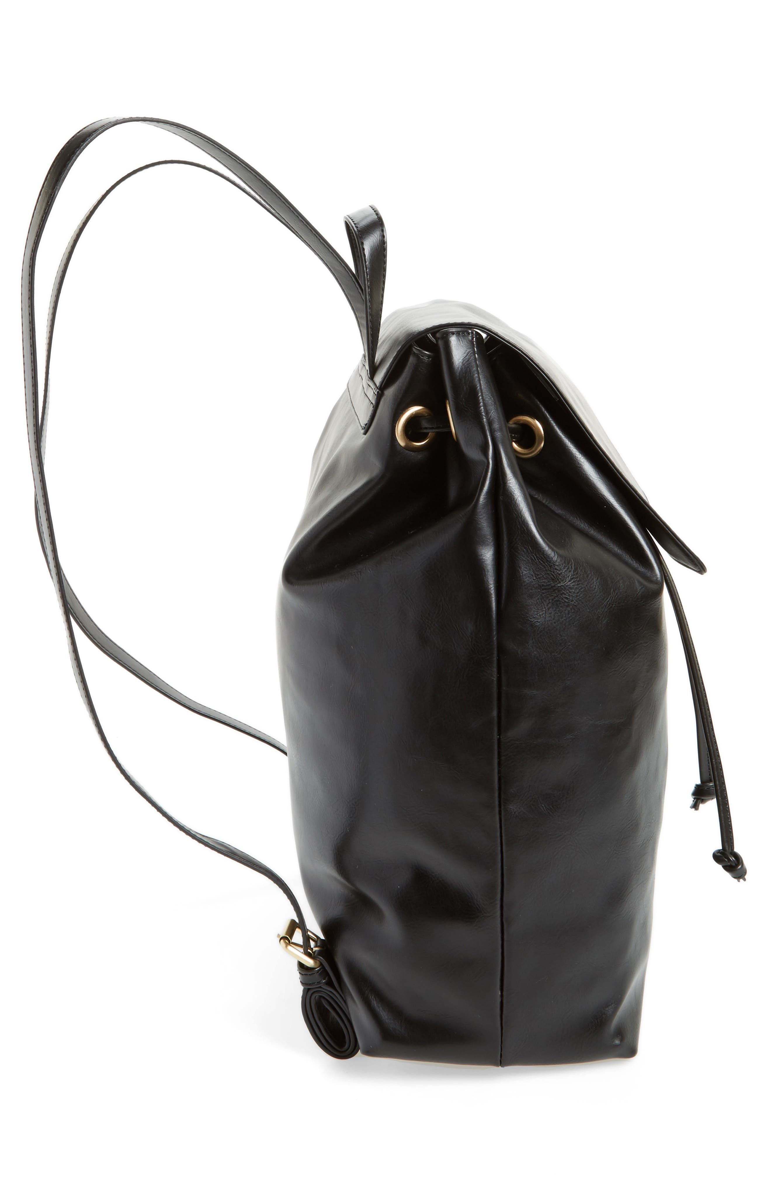 Alternate Image 4  - Sole Society Carly Slouchy Faux Leather Backpack
