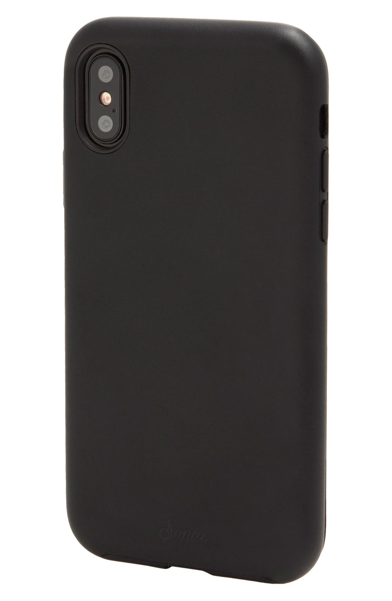 Alternate Image 2  - Sonix Faux Leather iPhone X Case
