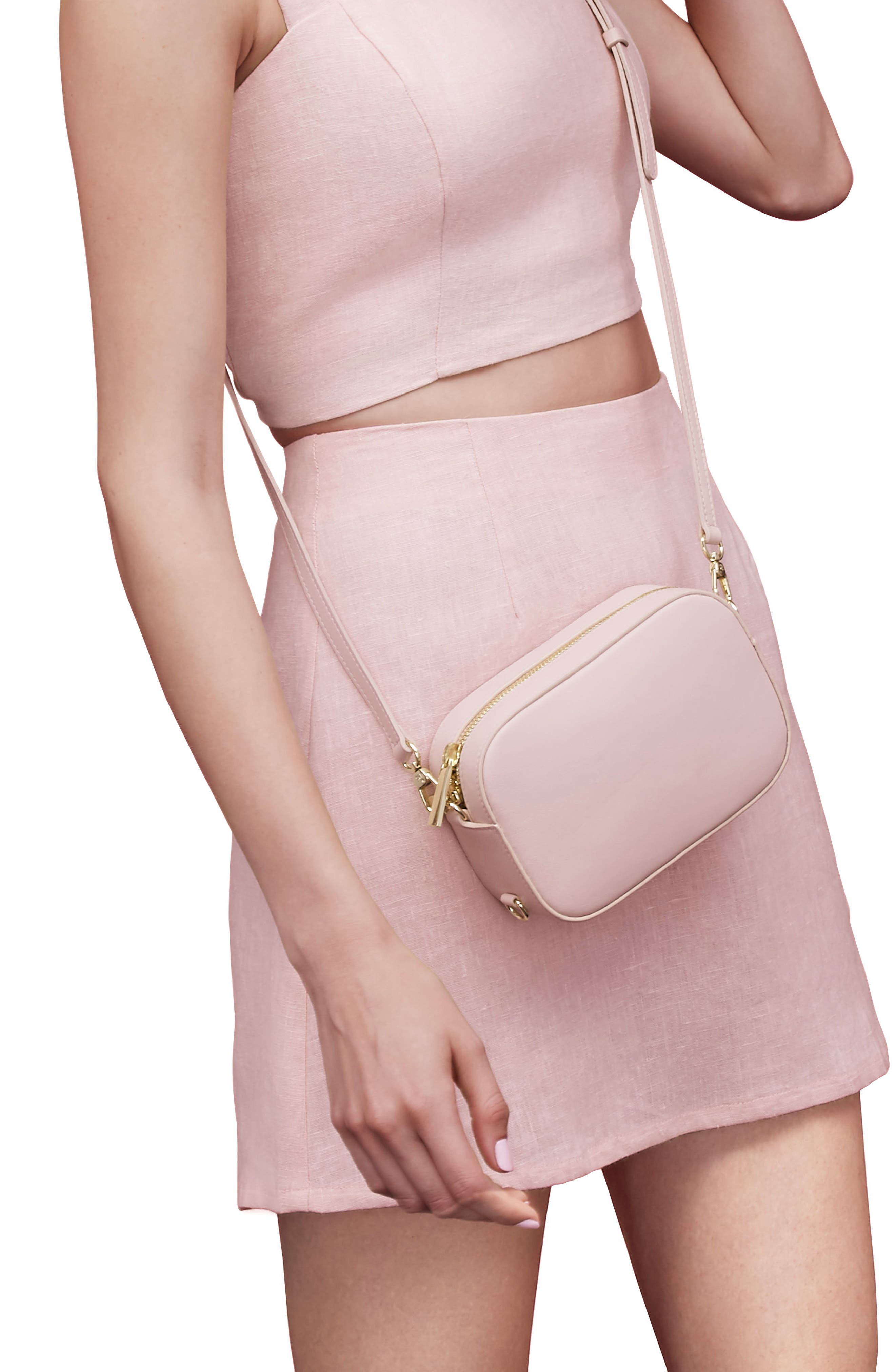 Alternate Image 2  - Pop & Suki Leather Camera Bag (Nordstrom Exclusive)