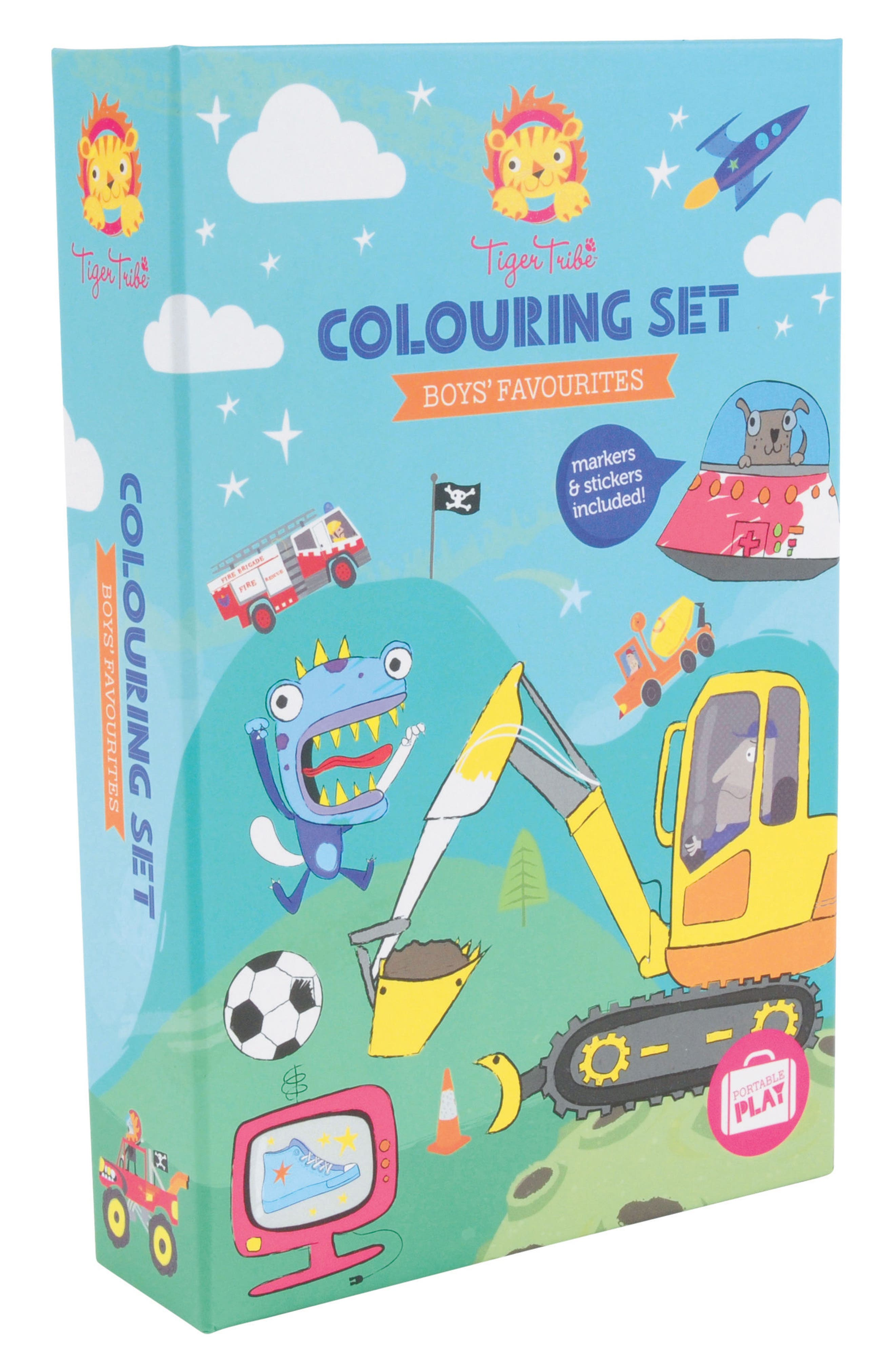 Tiger Tribe Boys' Favorites Coloring Set