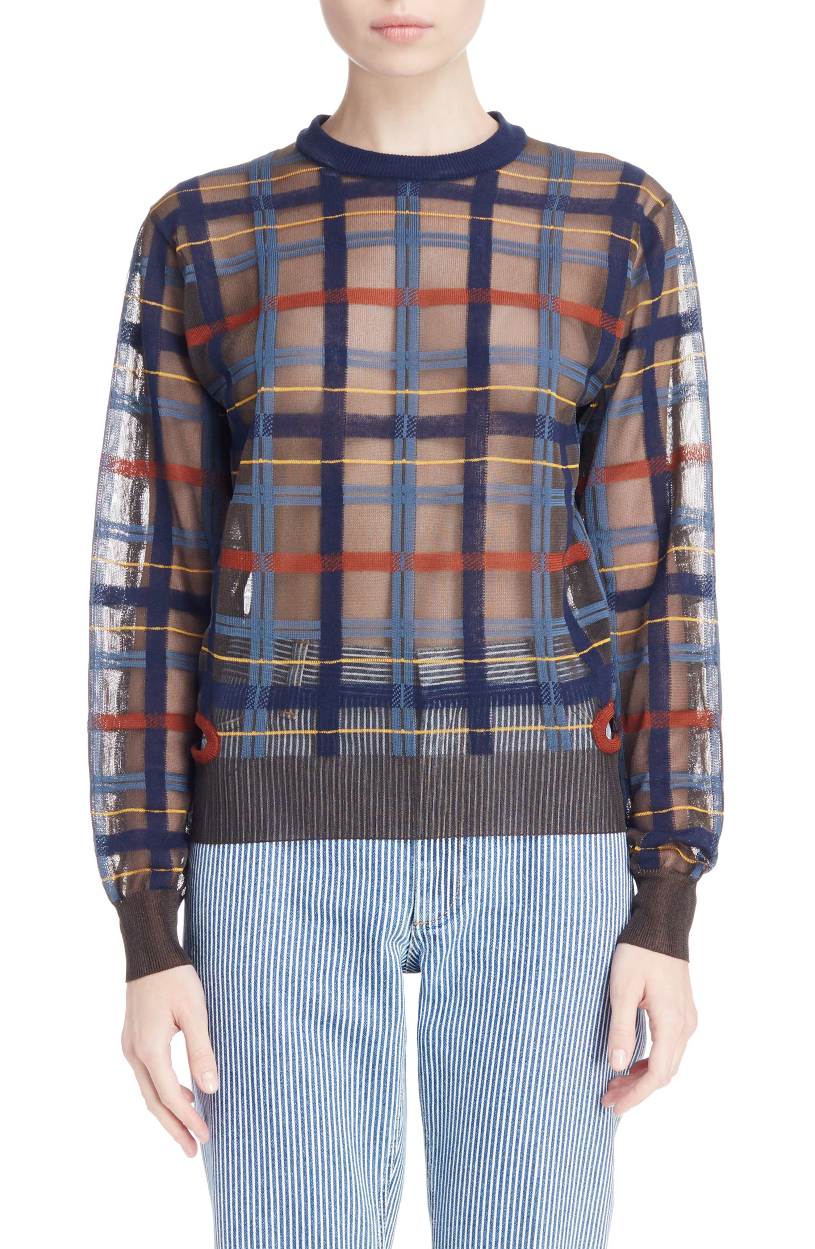 Alternate Image 1 Selected - Toga Check Knit Sweater