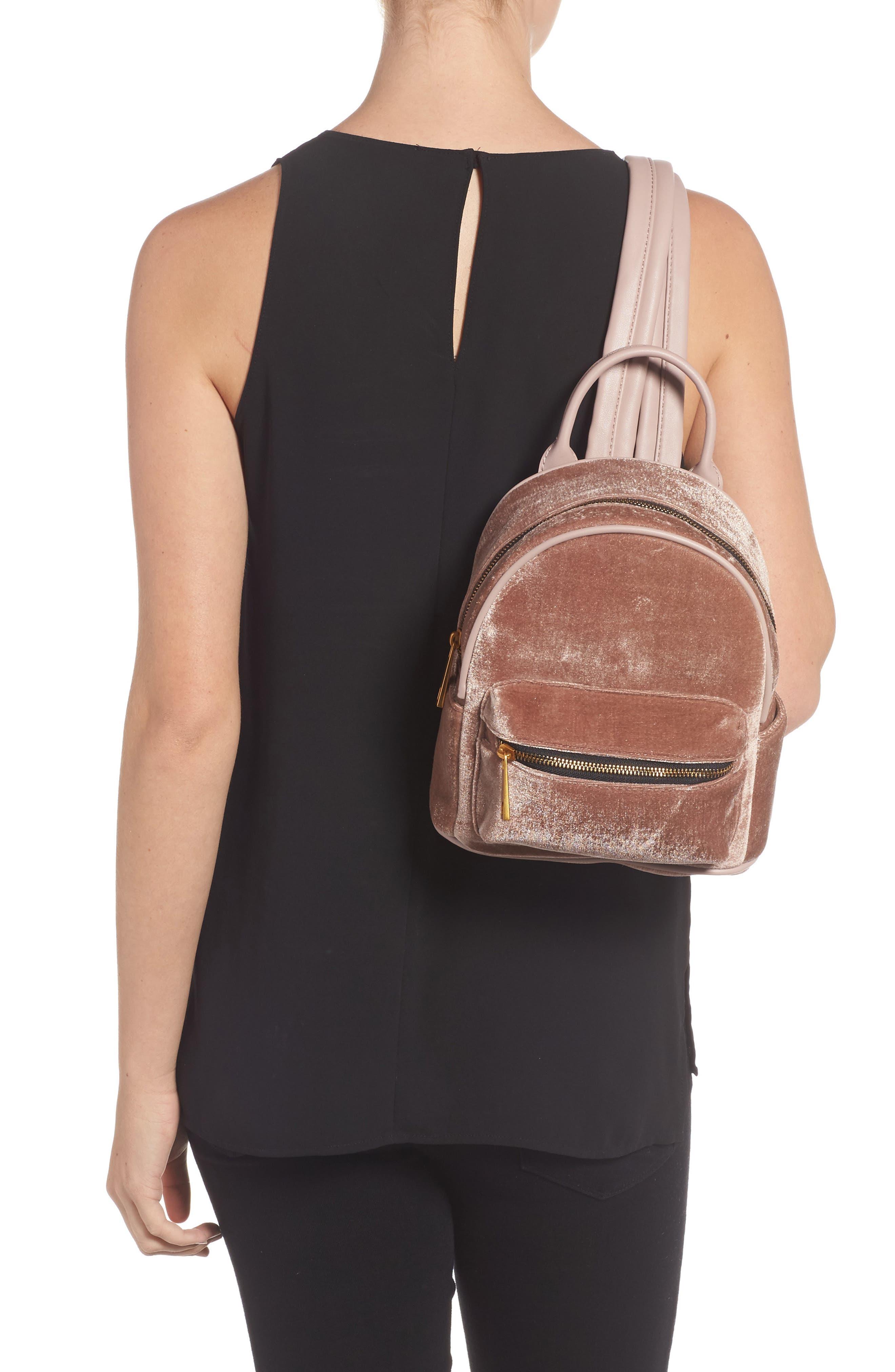 Alternate Image 2  - Street Level Velvet Backpack