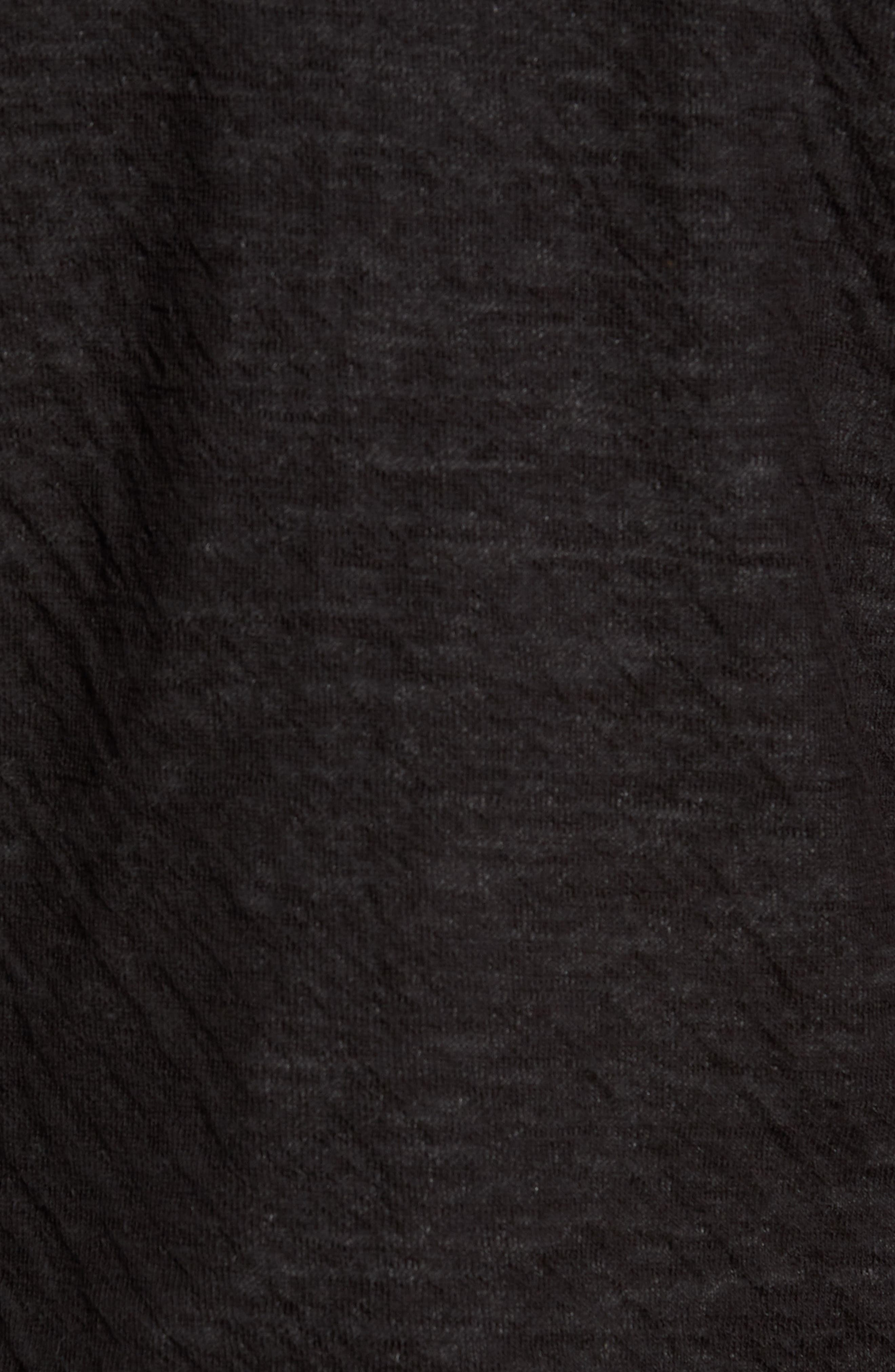 Contrast Double Knit Cotton & Wool Hoodie,                             Alternate thumbnail 5, color,                             Black/ H Carbon