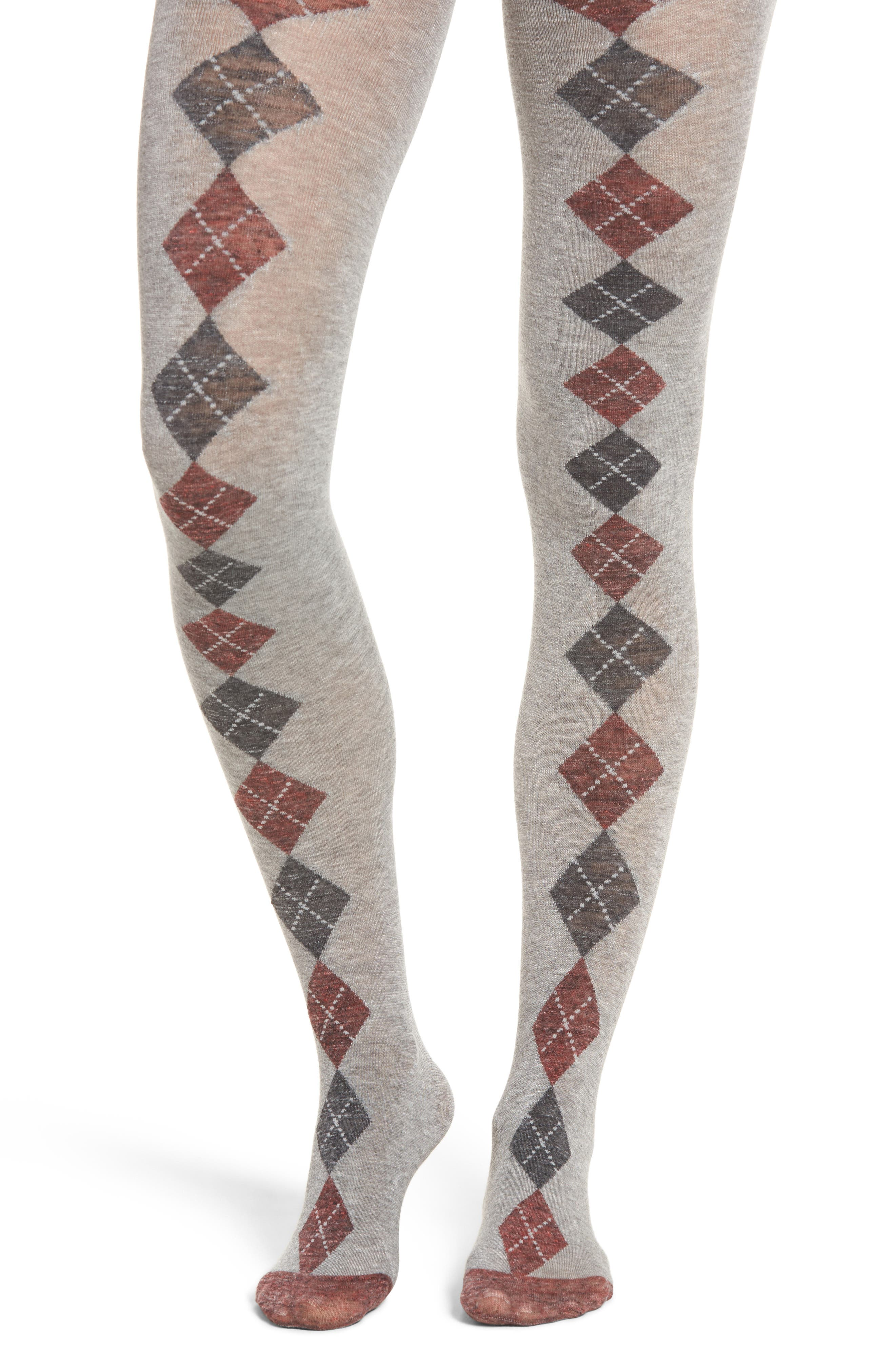 Tip Toe Argyle Tights,                         Main,                         color, Oxford