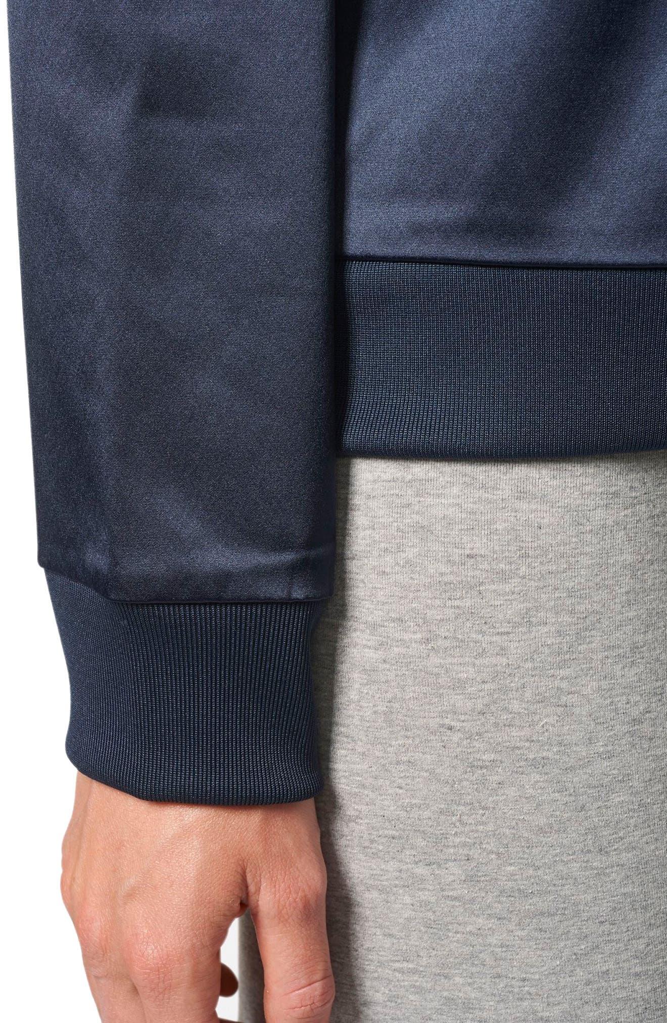 Trefoil Crewneck Sweater,                             Alternate thumbnail 4, color,                             Legend Ink F17
