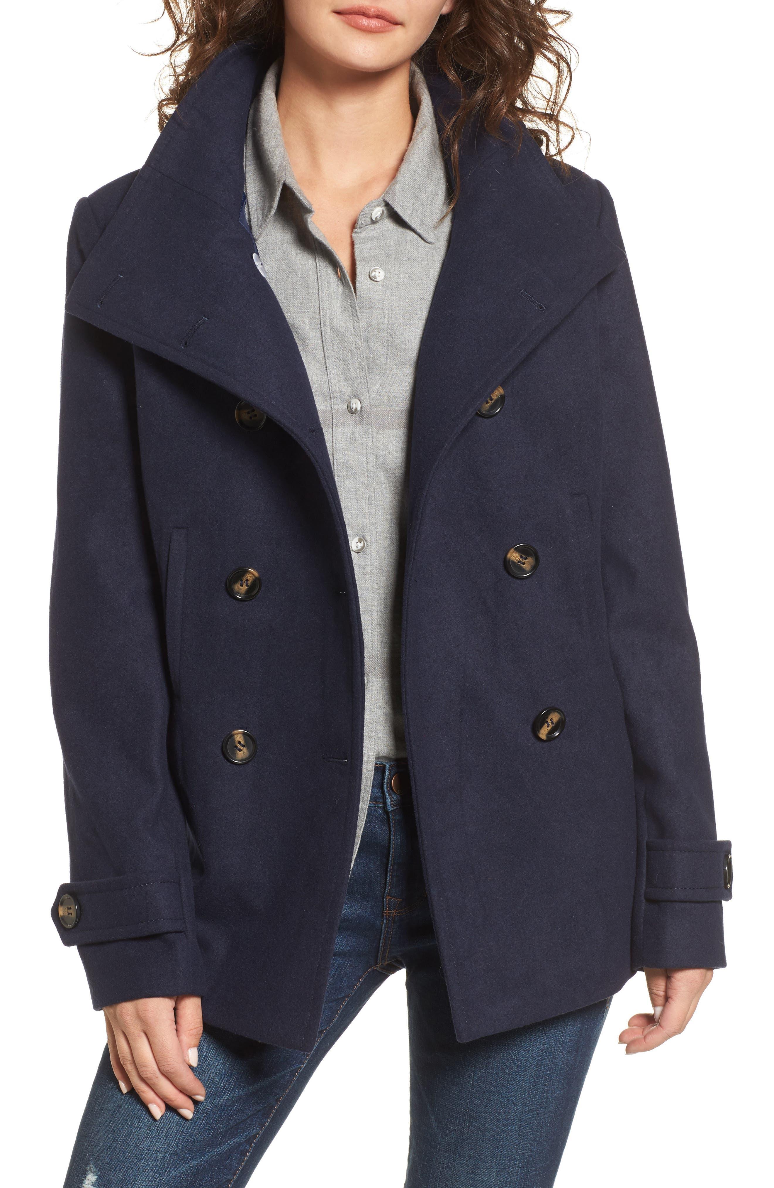Black pea coat canada