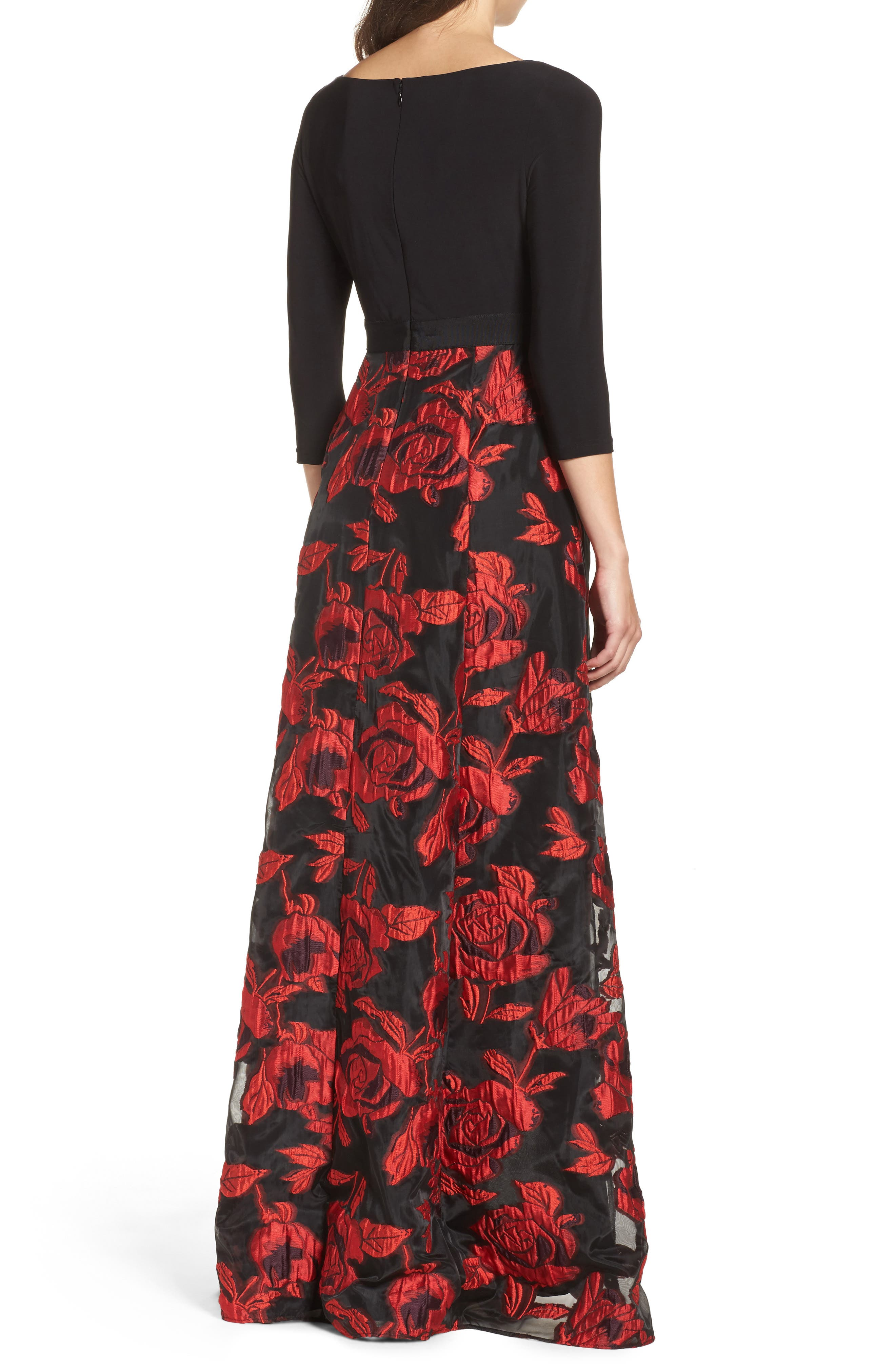 Alternate Image 2  - Adrianna Papell Rose Organza High/Low Maxi Dress