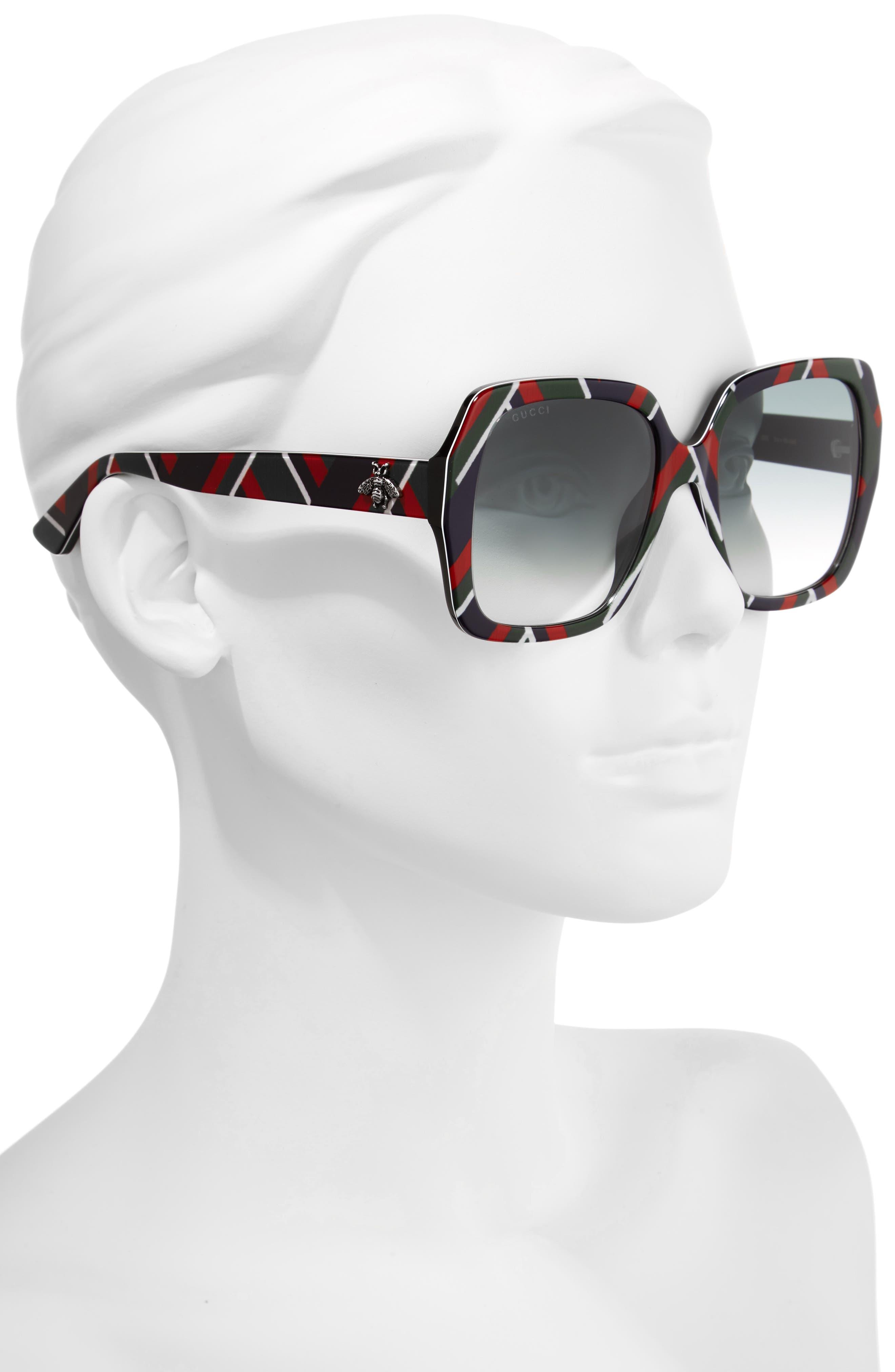 Alternate Image 2  - Gucci 54mm Gradient Square Sunglasses