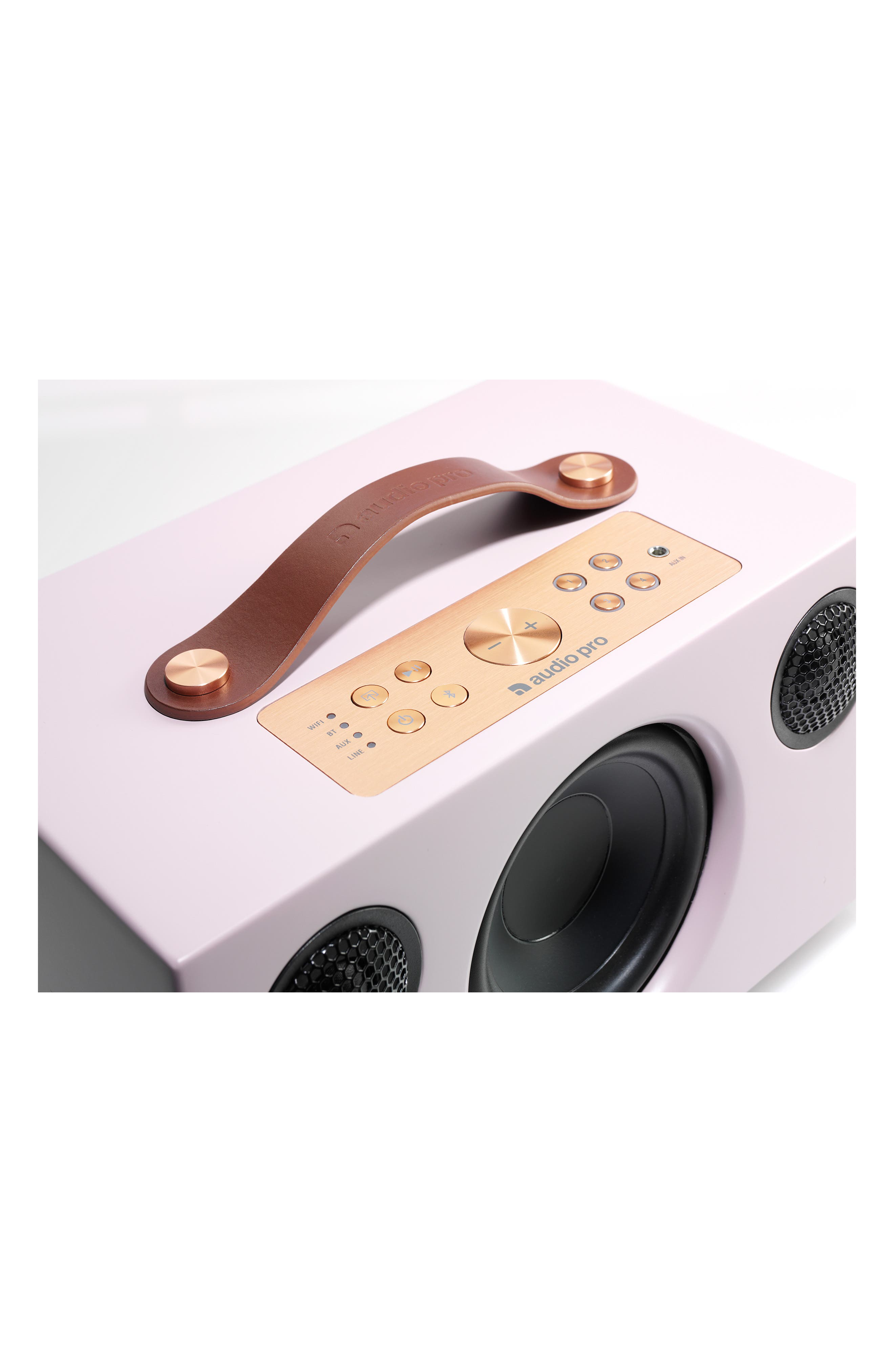Addon C5 WiFi Multi Room Bluetooth Speaker,                             Alternate thumbnail 3, color,                             Dirty Pink