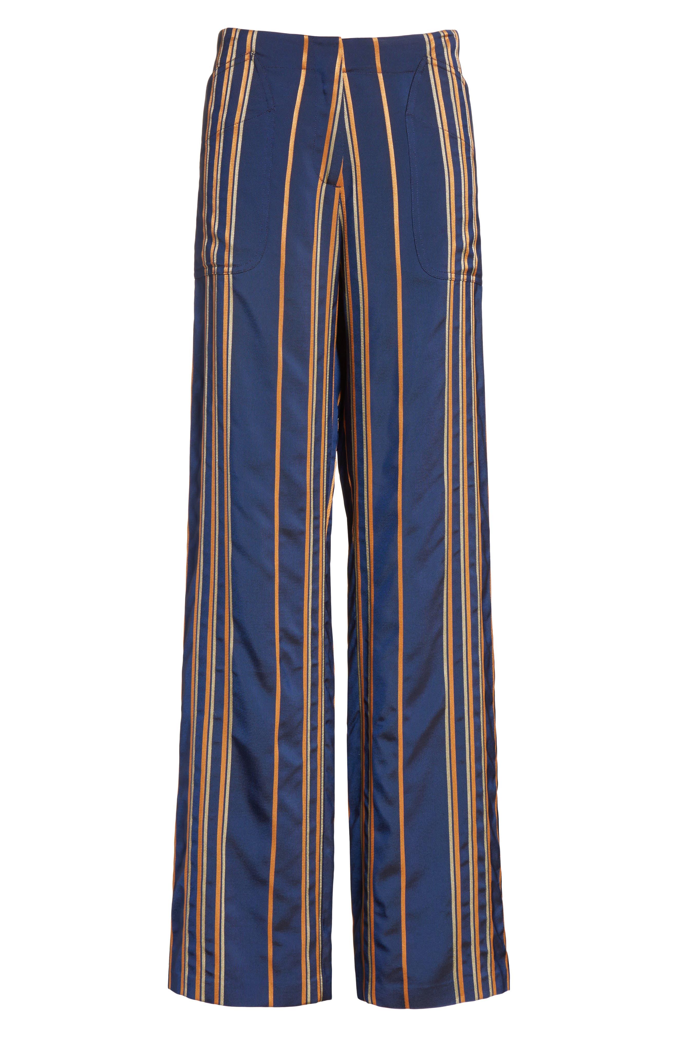 Stripe Pants,                             Alternate thumbnail 8, color,                             Mykonos/Papaya