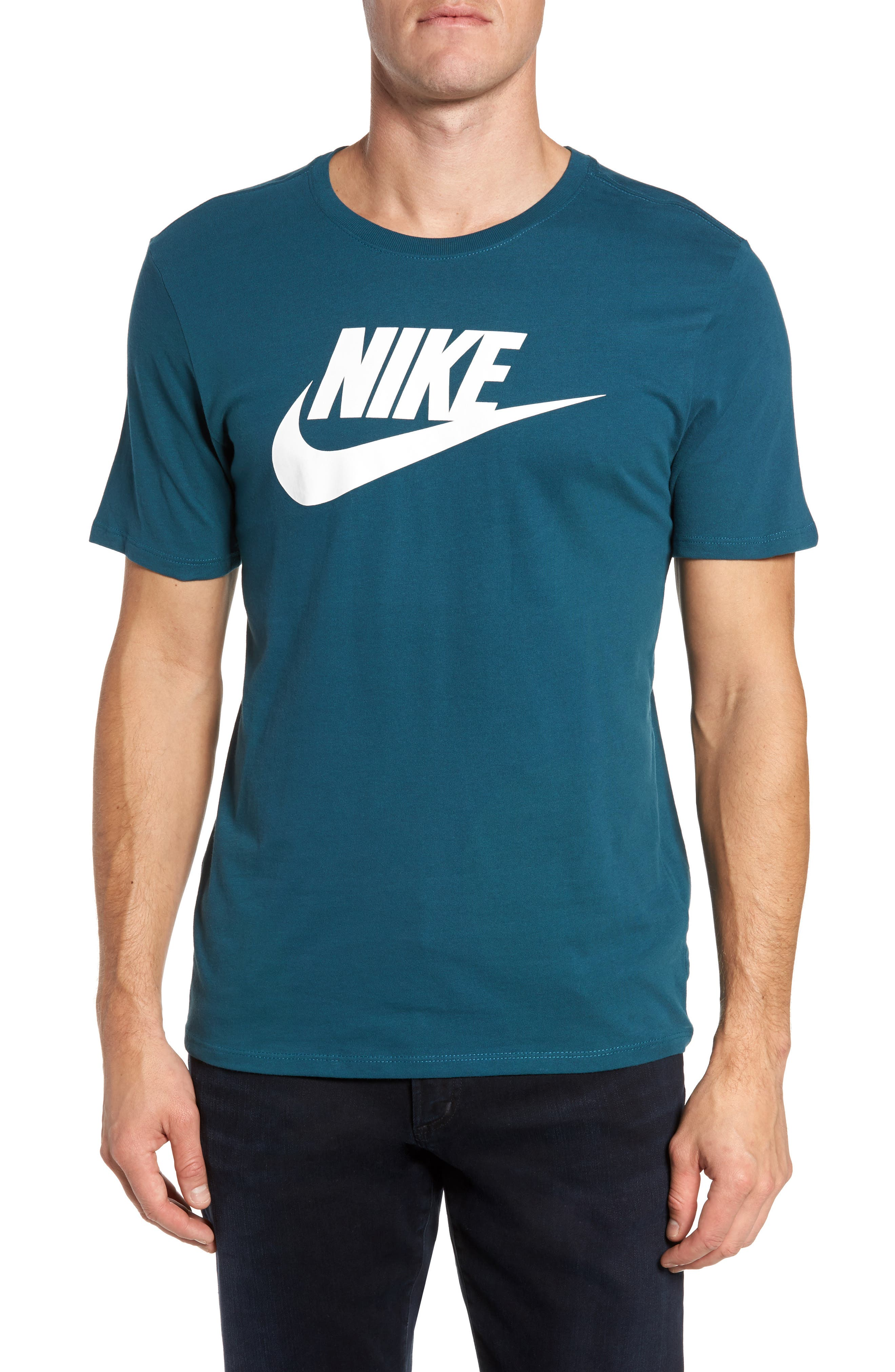 'Tee-Futura Icon' Graphic T-Shirt,                             Main thumbnail 1, color,                             Space Blue/ White