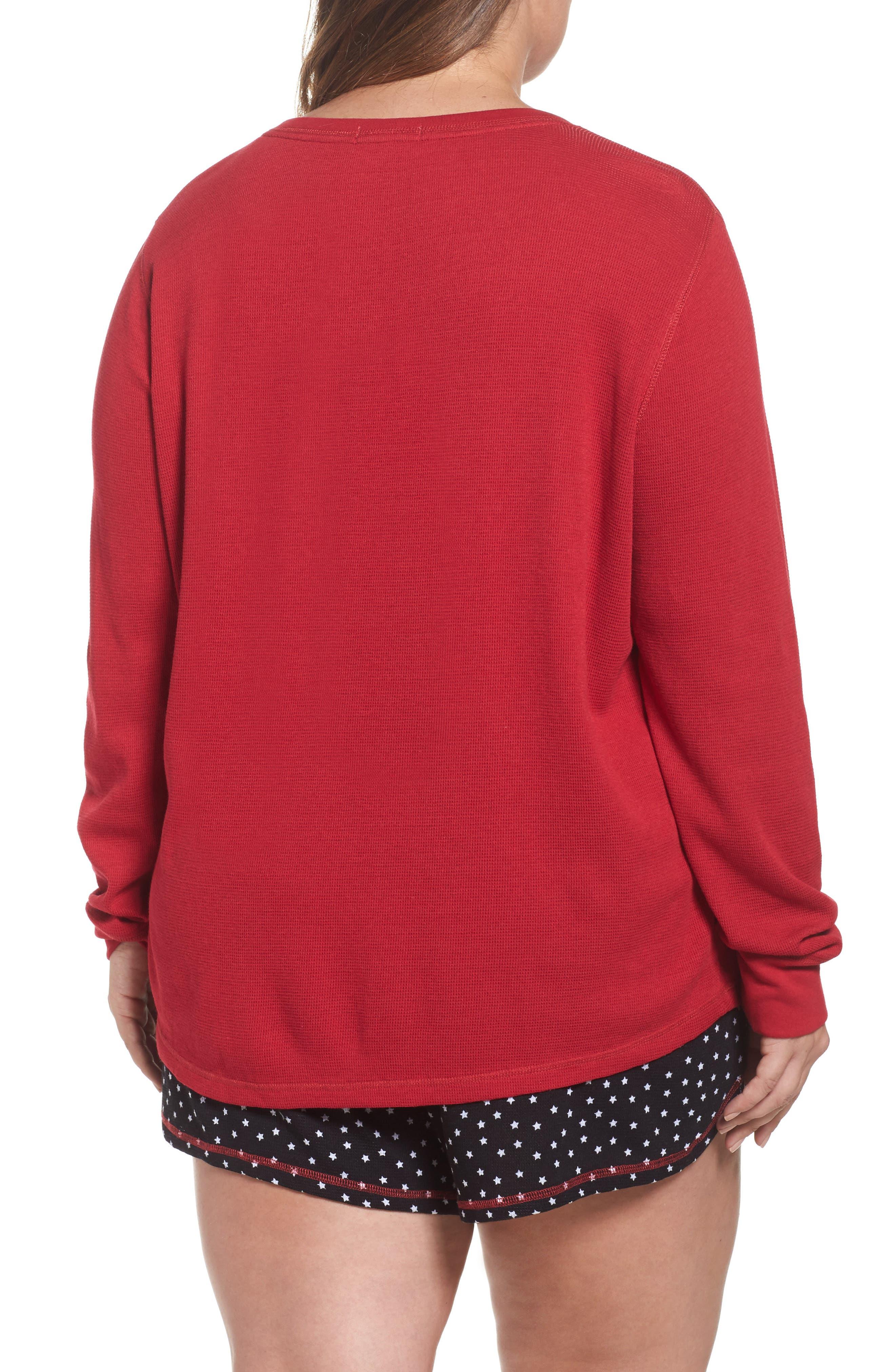Alternate Image 2  - PJ Salvage Thermal Short Pajamas (Plus Size)
