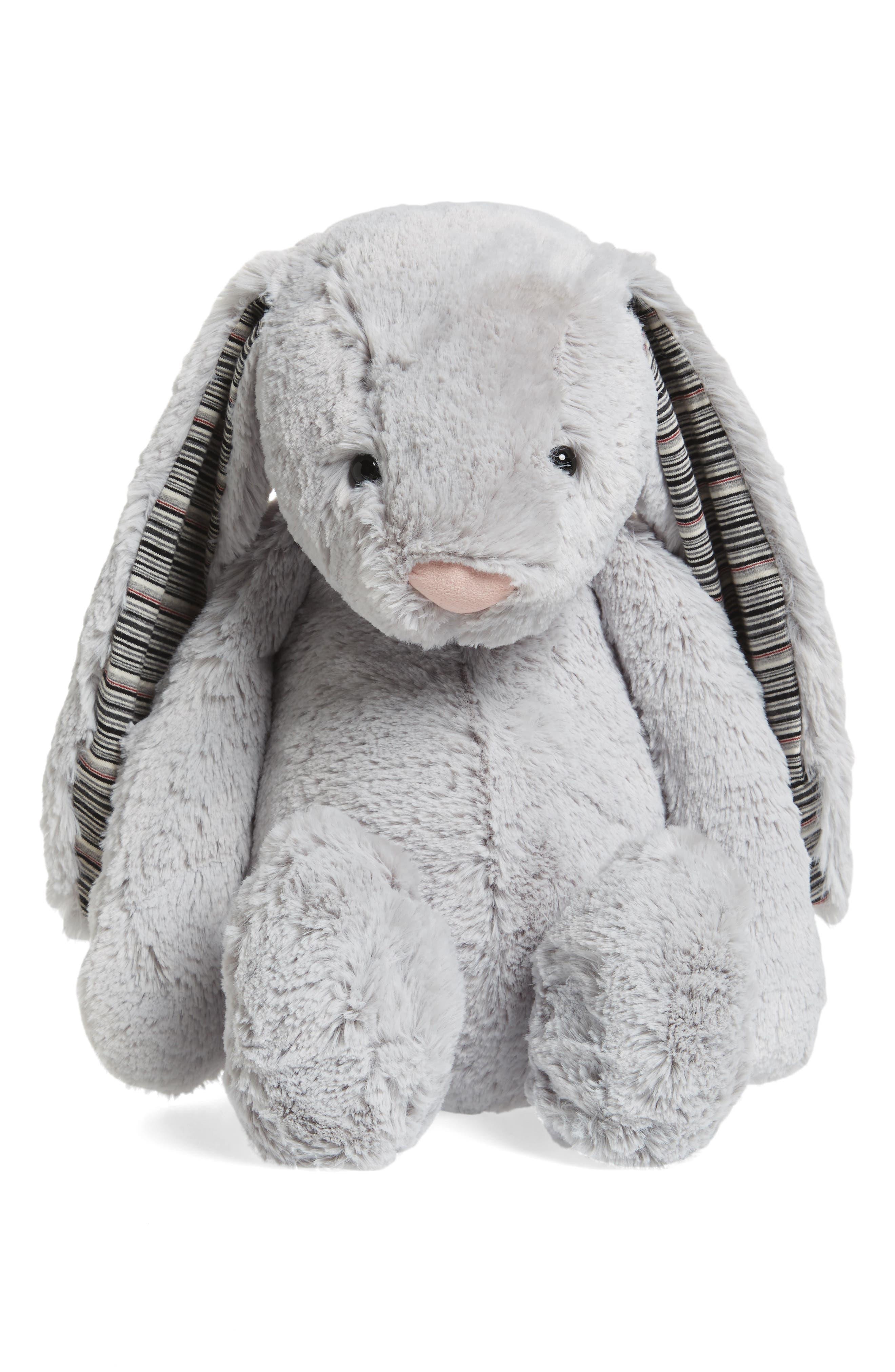 'Huge Bashful Blake Bunny' Stuffed Animal,                         Main,                         color, Grey